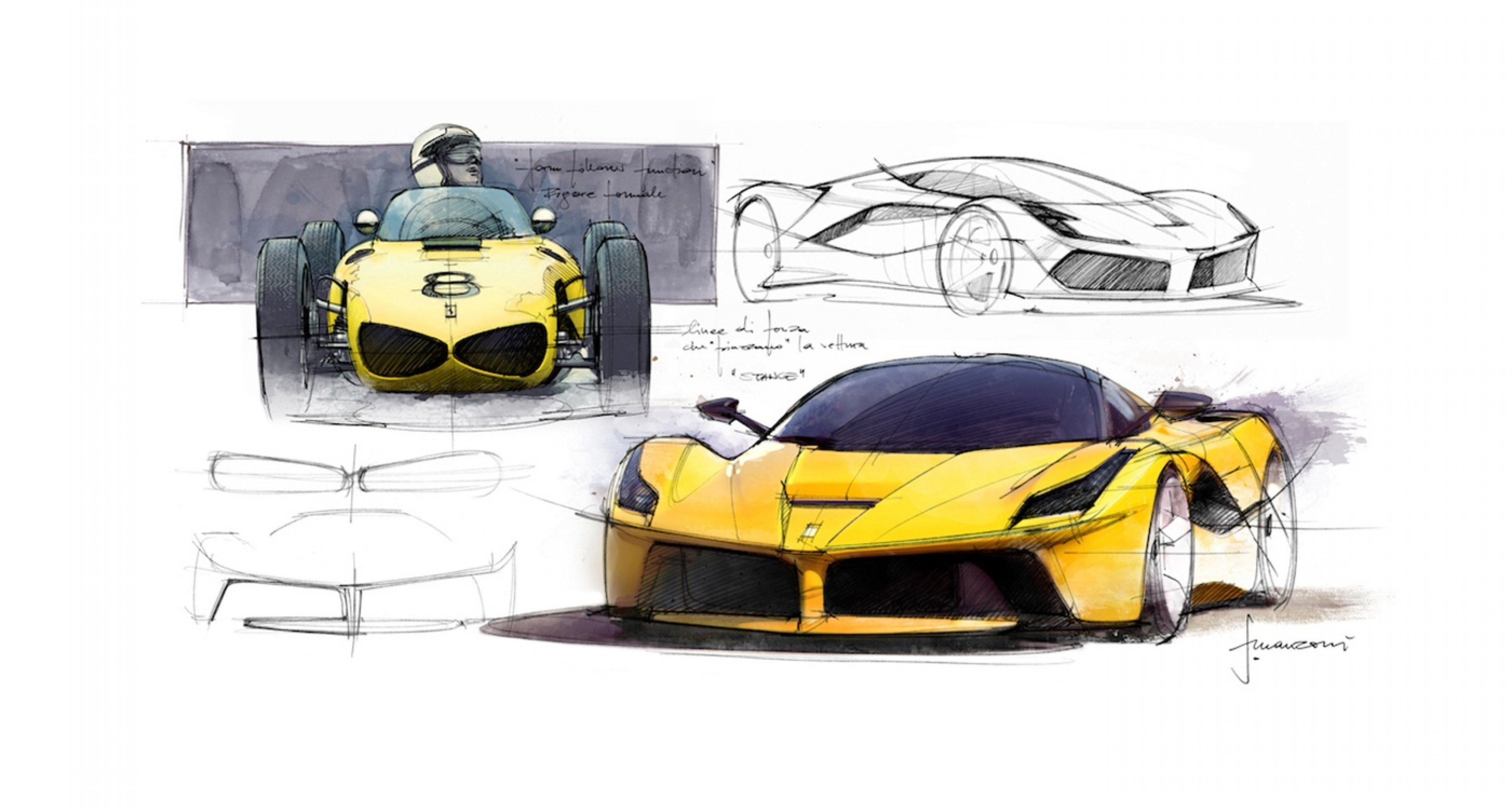 Drawings for LaFerrari by Flavio Manzoni and team.