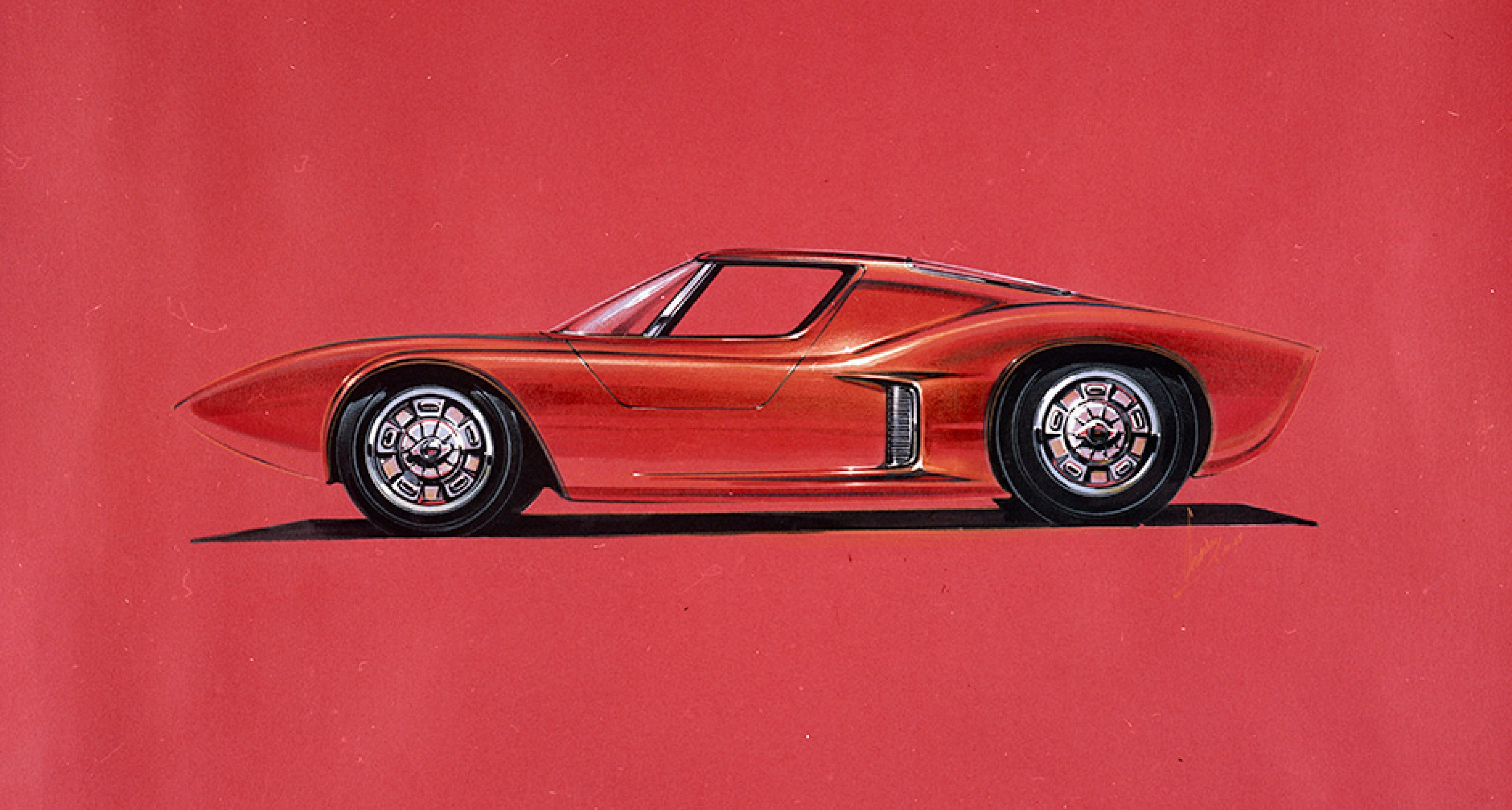 1963 two-seat, mid-engine Mustang concept: The father of the GT40?