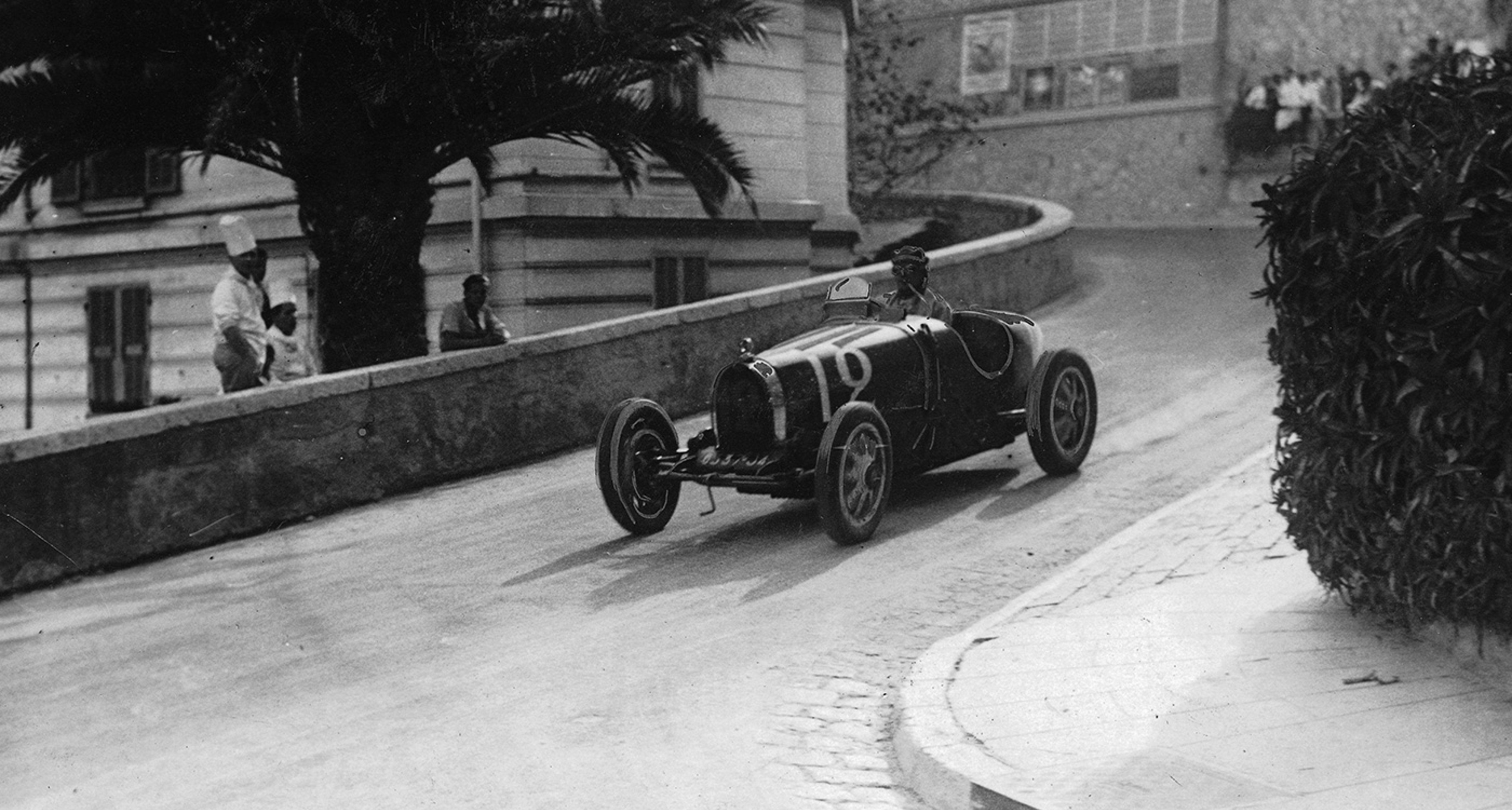 The Bugatti of William Grover-Williams at the 1929 Monaco GP