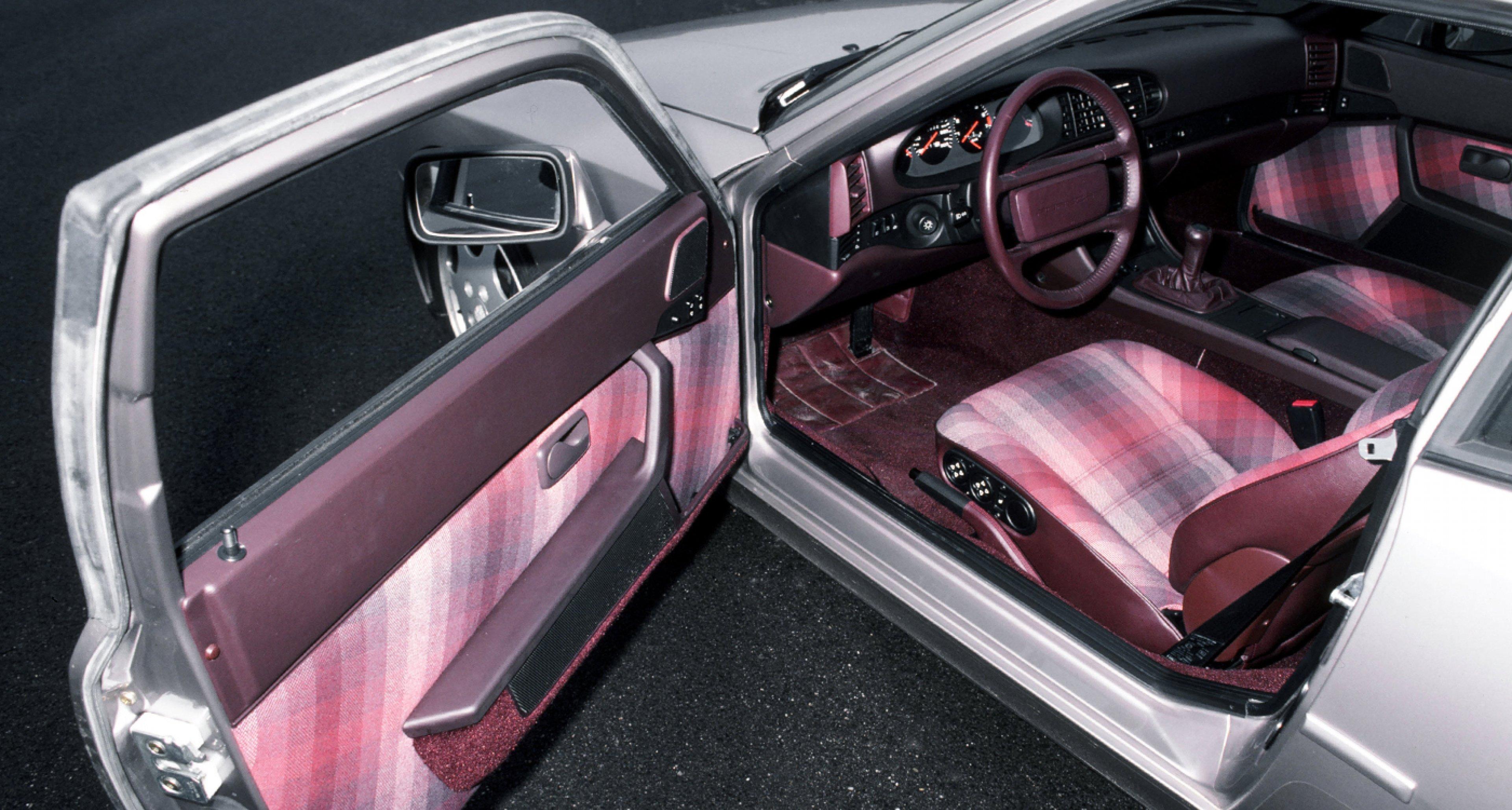 Interior of a 1988 Porsche 944 Turbo S.
