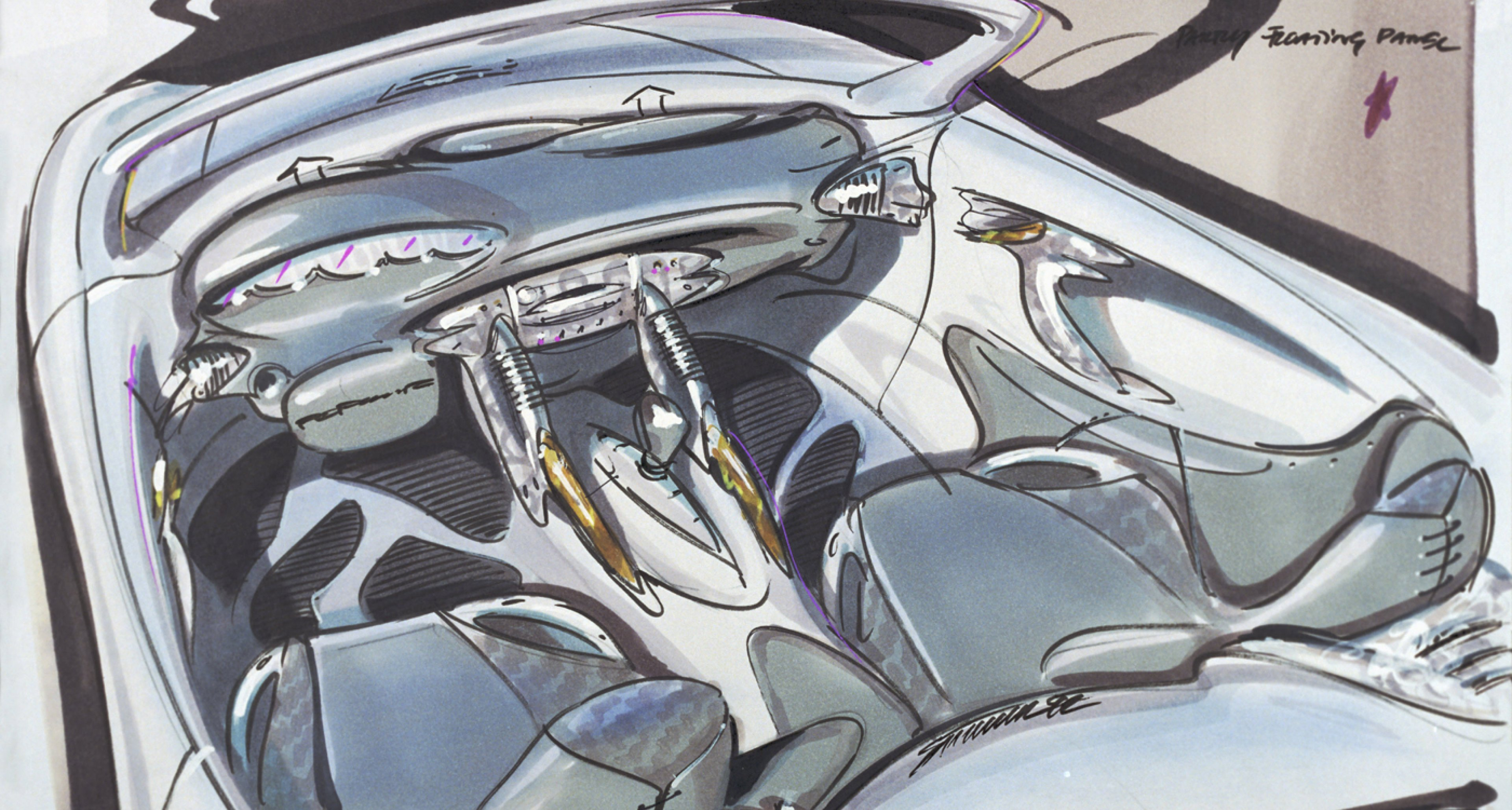 Design study for the Porsche Type 986 Boxster from 1992.