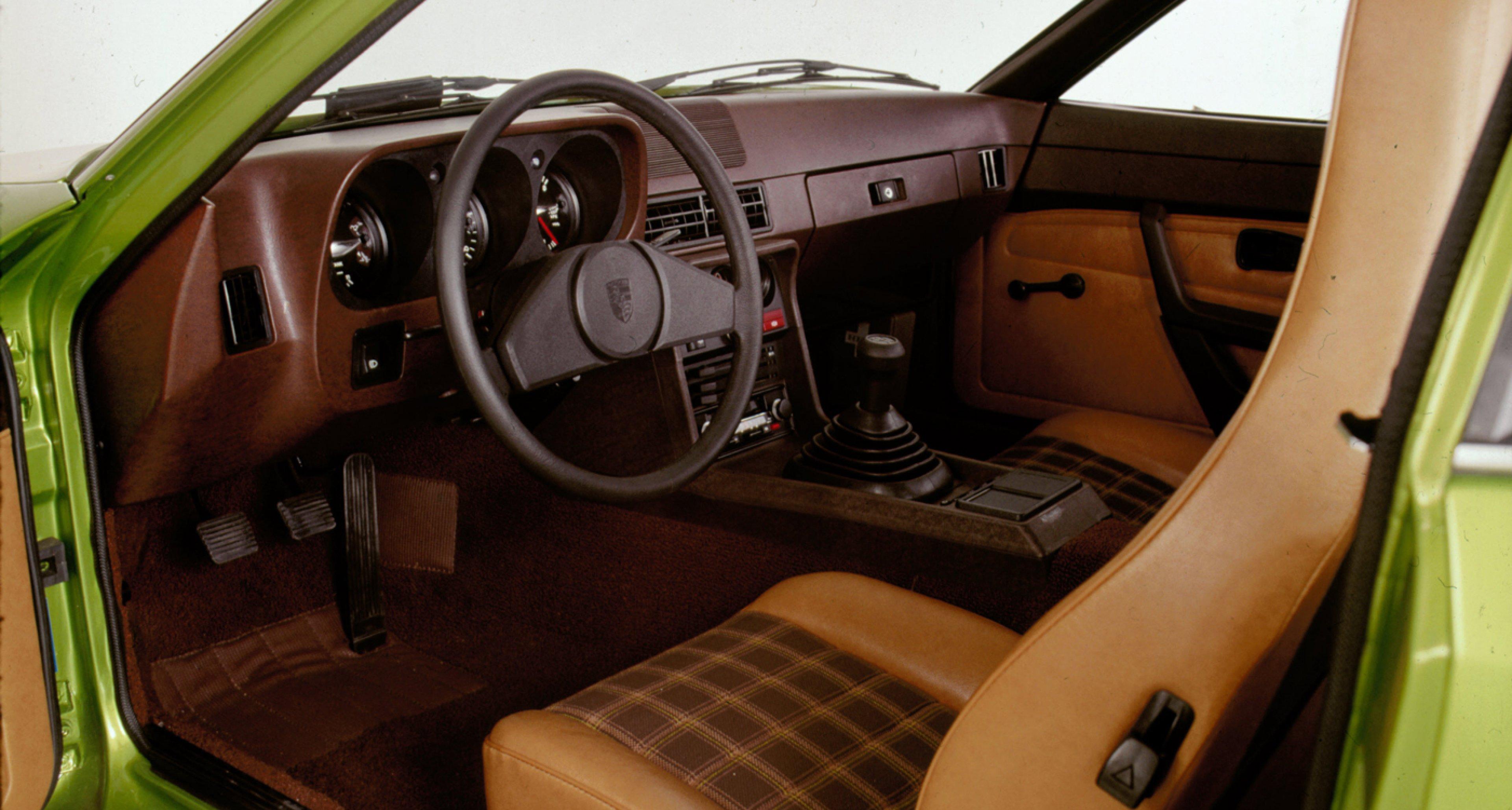Interior of a 1976 Porsche 924.