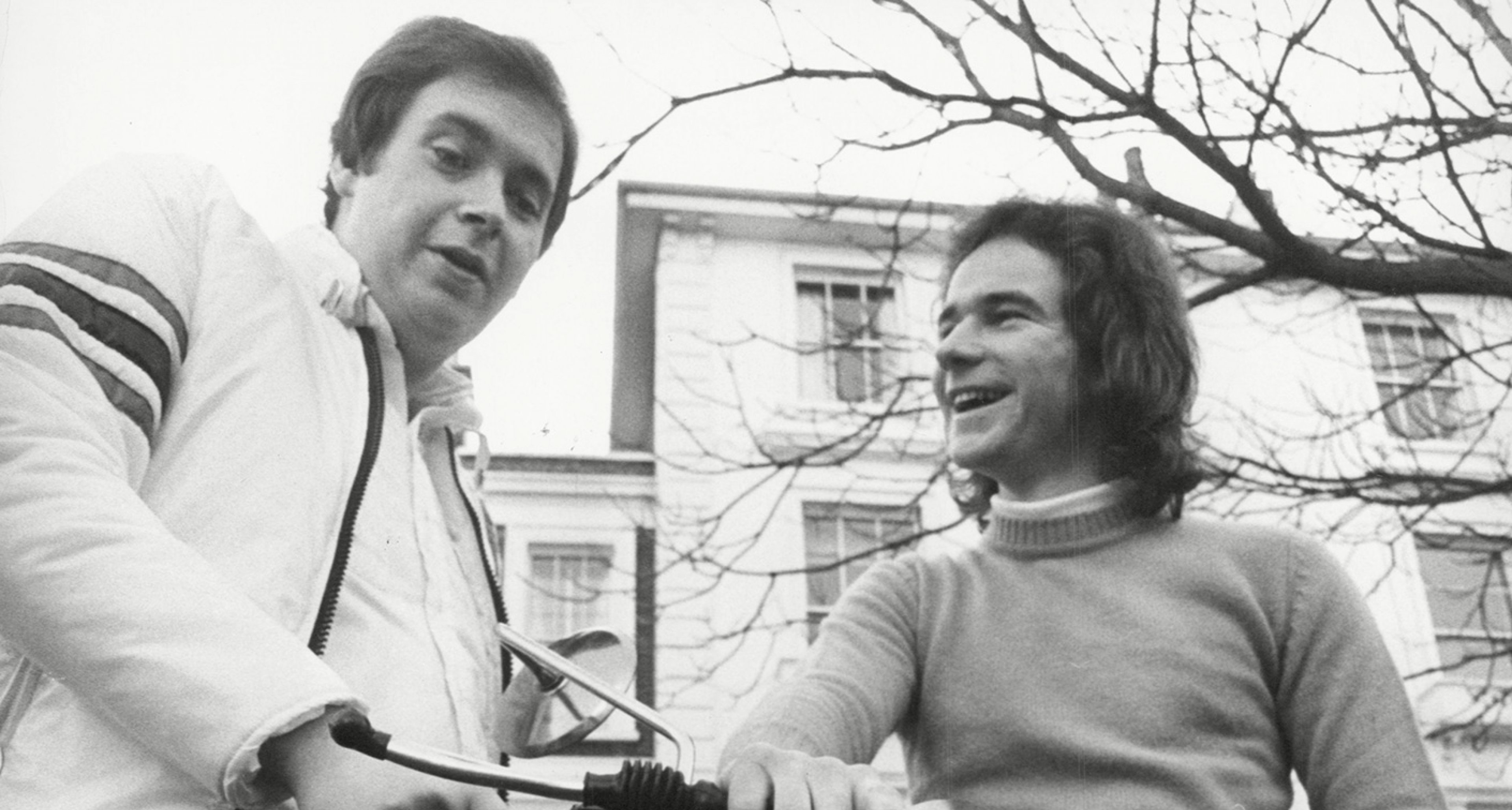 Motorcycling legends gives his friend Lord Hesketh some tips on learning to ride
