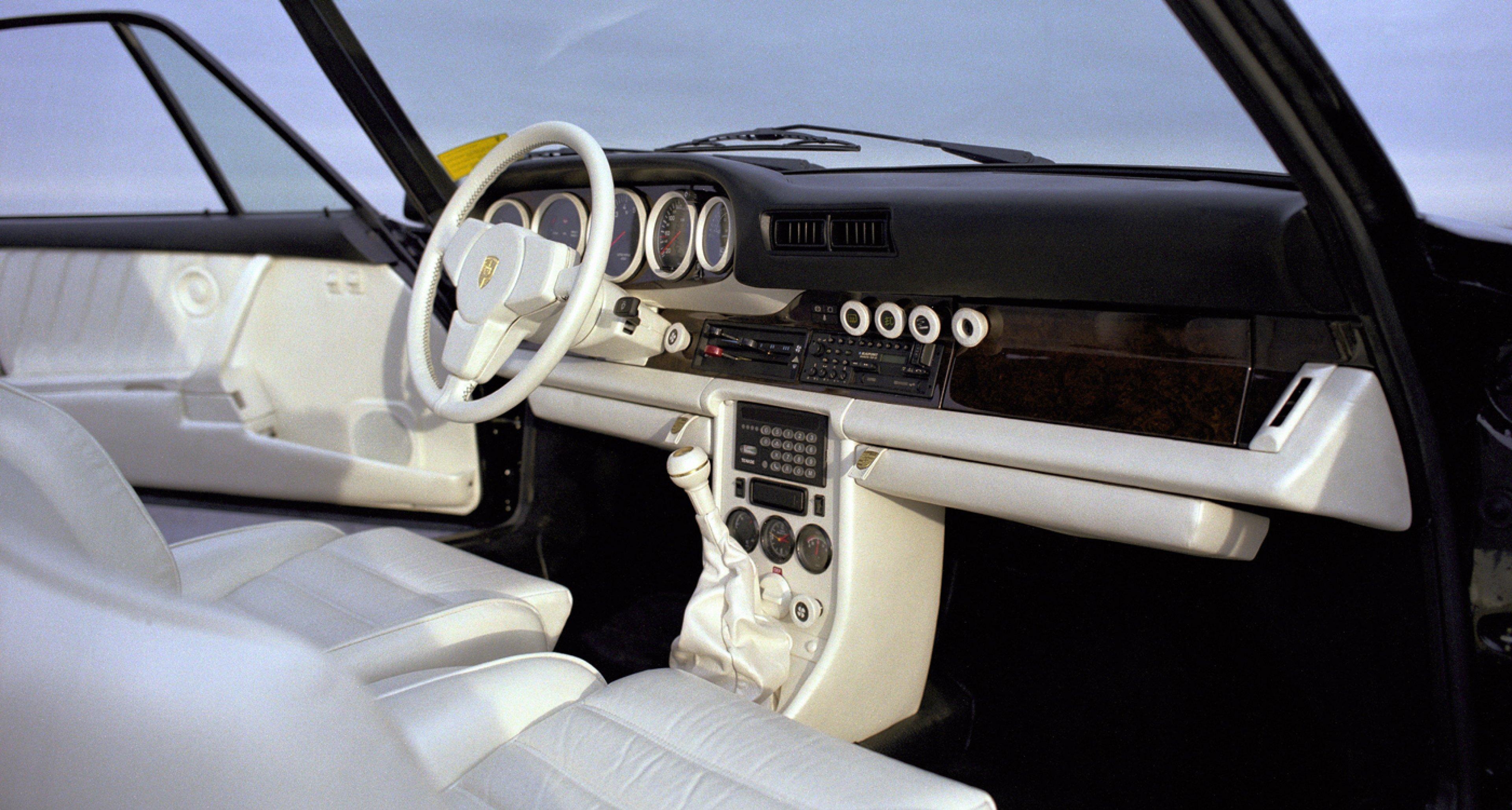 A 1983 Porsche 911 Turbo 3,3 with interior by 'Porsche Exclusive'.