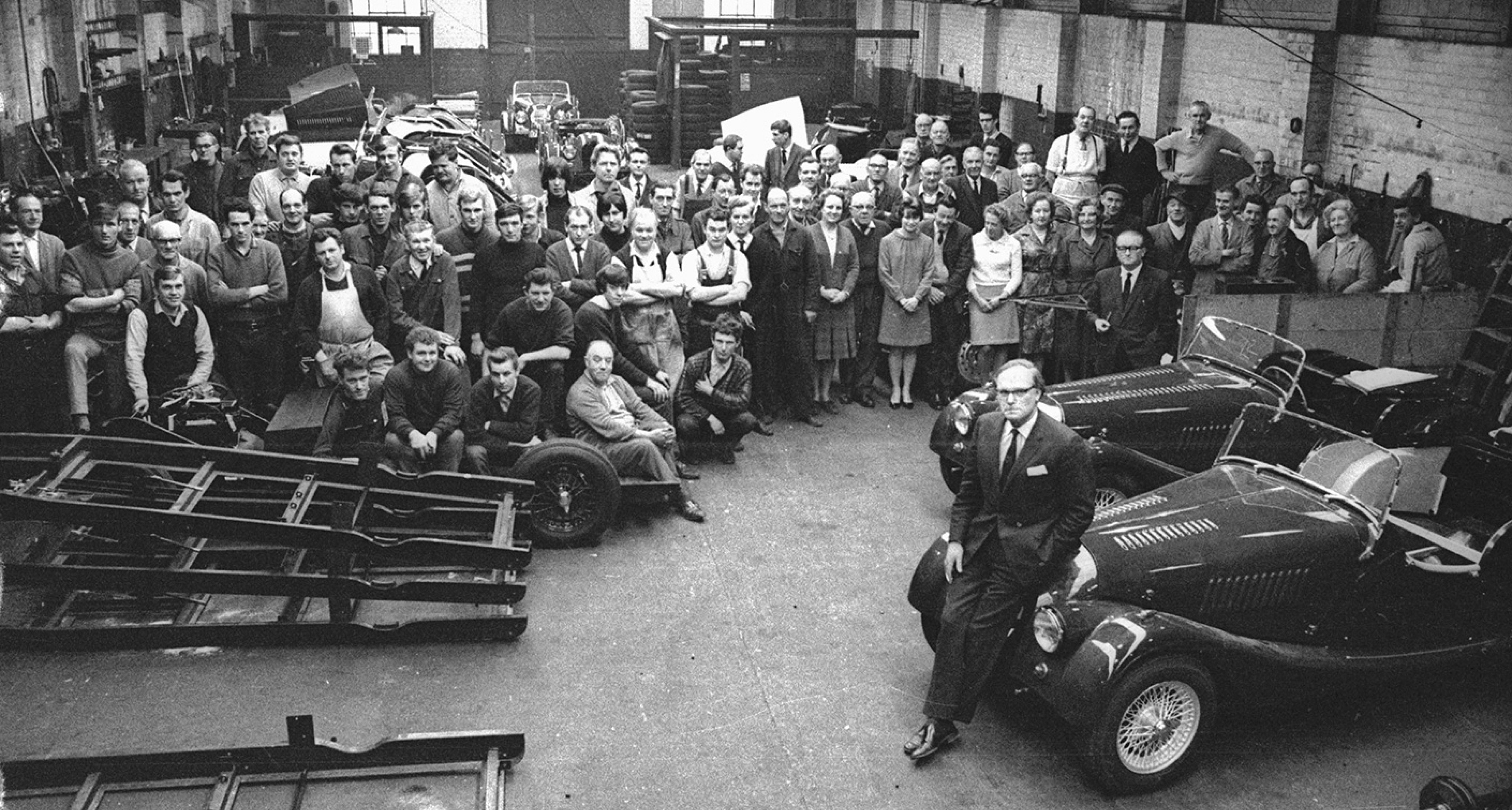 The workforce at Morgan Motor Co, one of the few remaining family-owned manufacturers