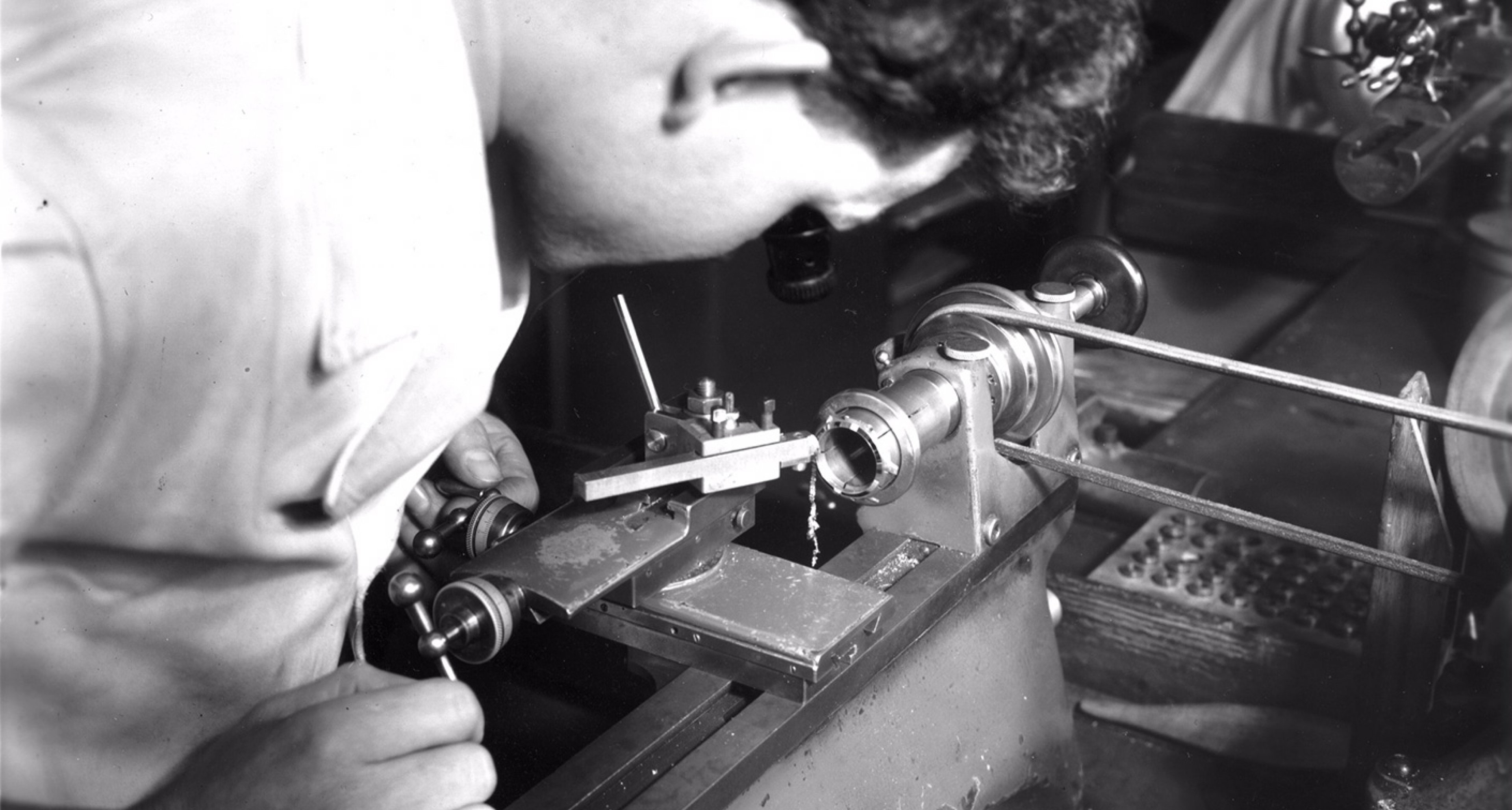 Precision engineering by hand at Jaeger LeCoultre HQ, 1958