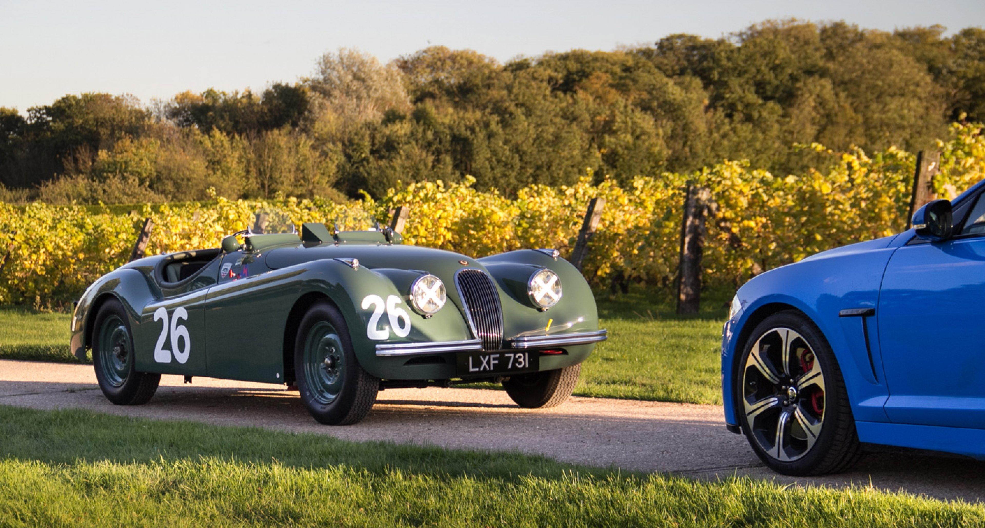 Jaguar XFR-S meets XK120