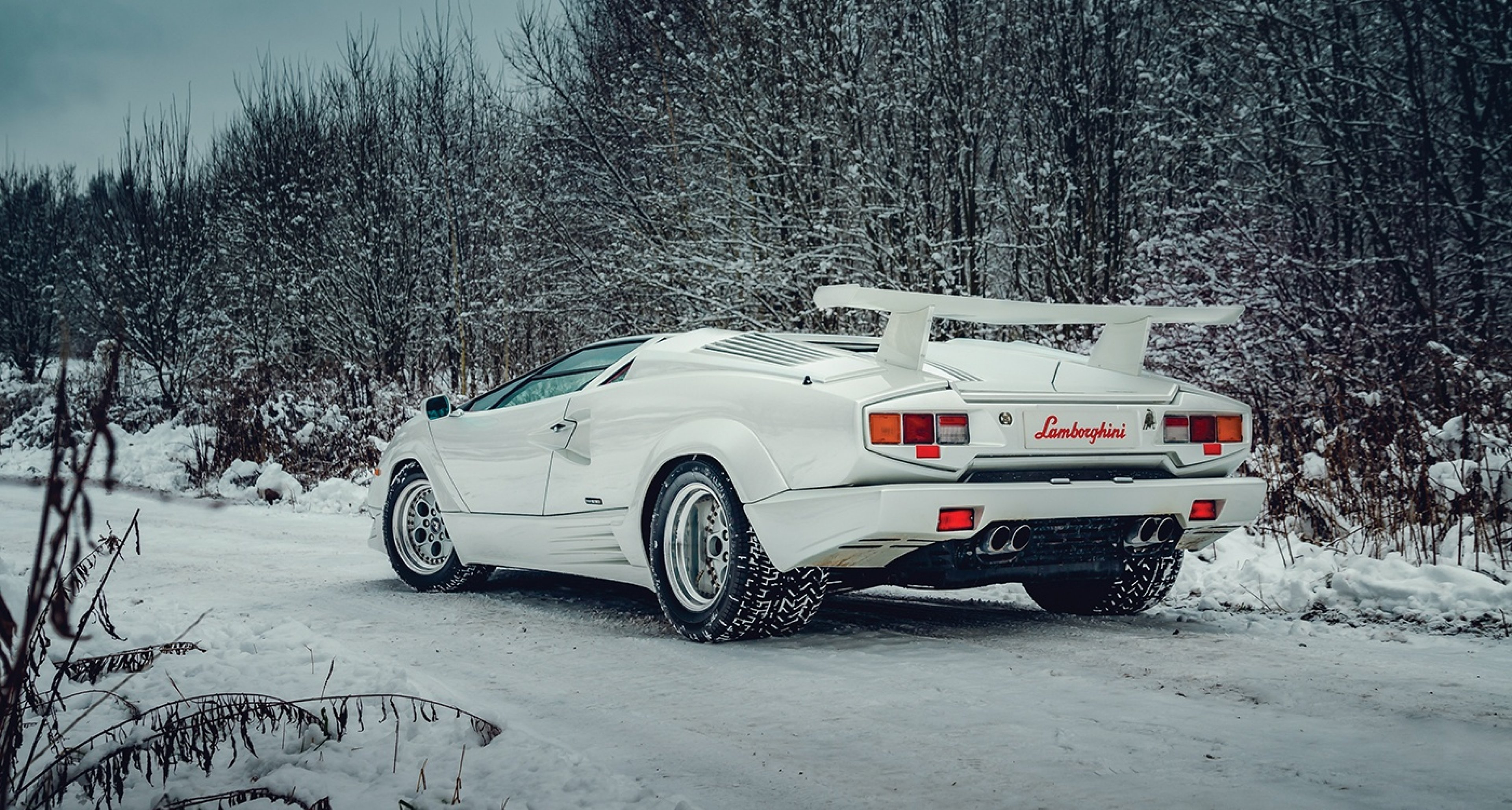 How Could We Give This Snow White Lamborghini Countach The