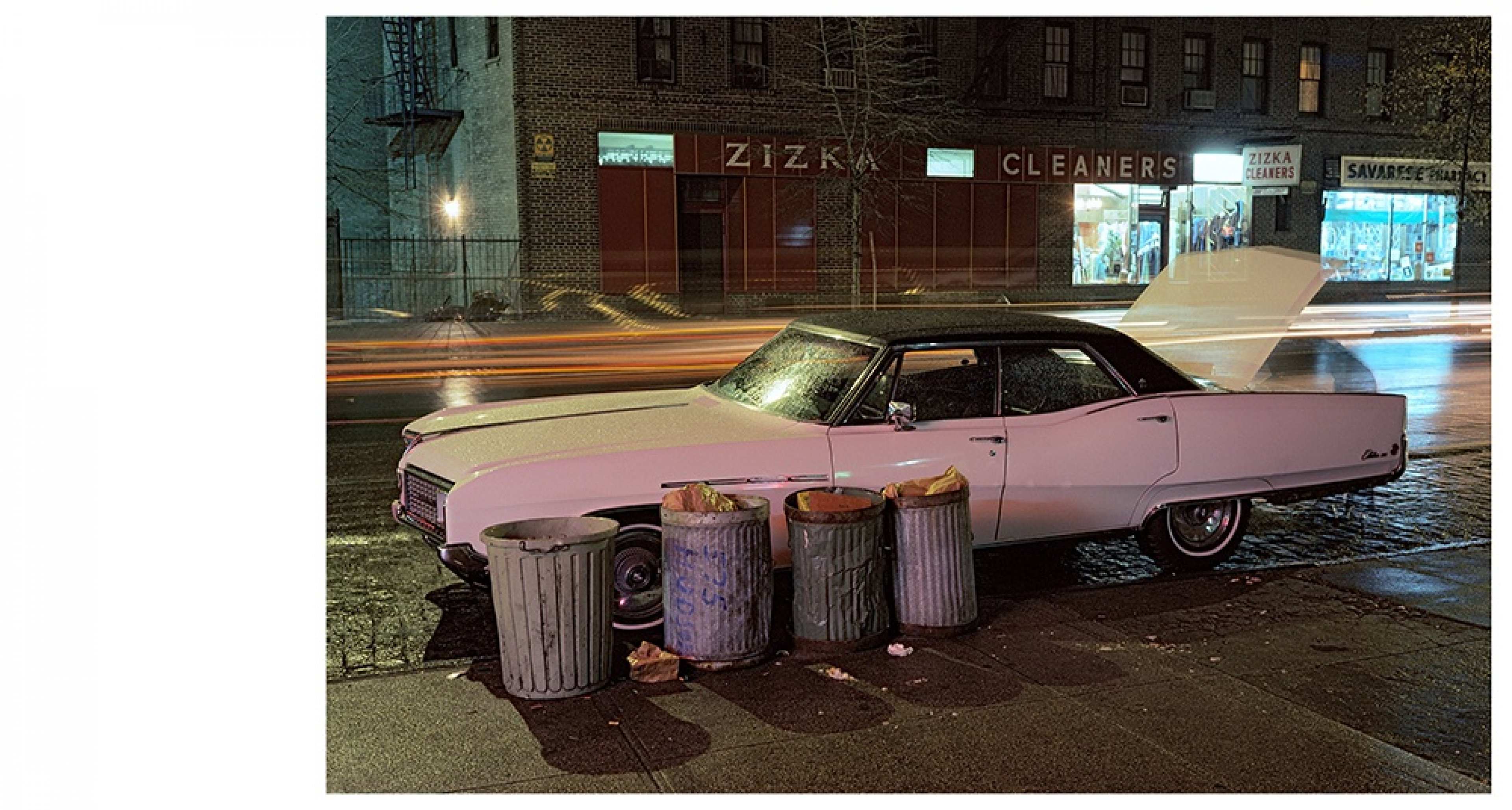 Langdon Clay Zizka Cleaners car, Buick Electra Series Cars, New York City, 1976 Slide-show Courtesy of the artist © Langdon Clay