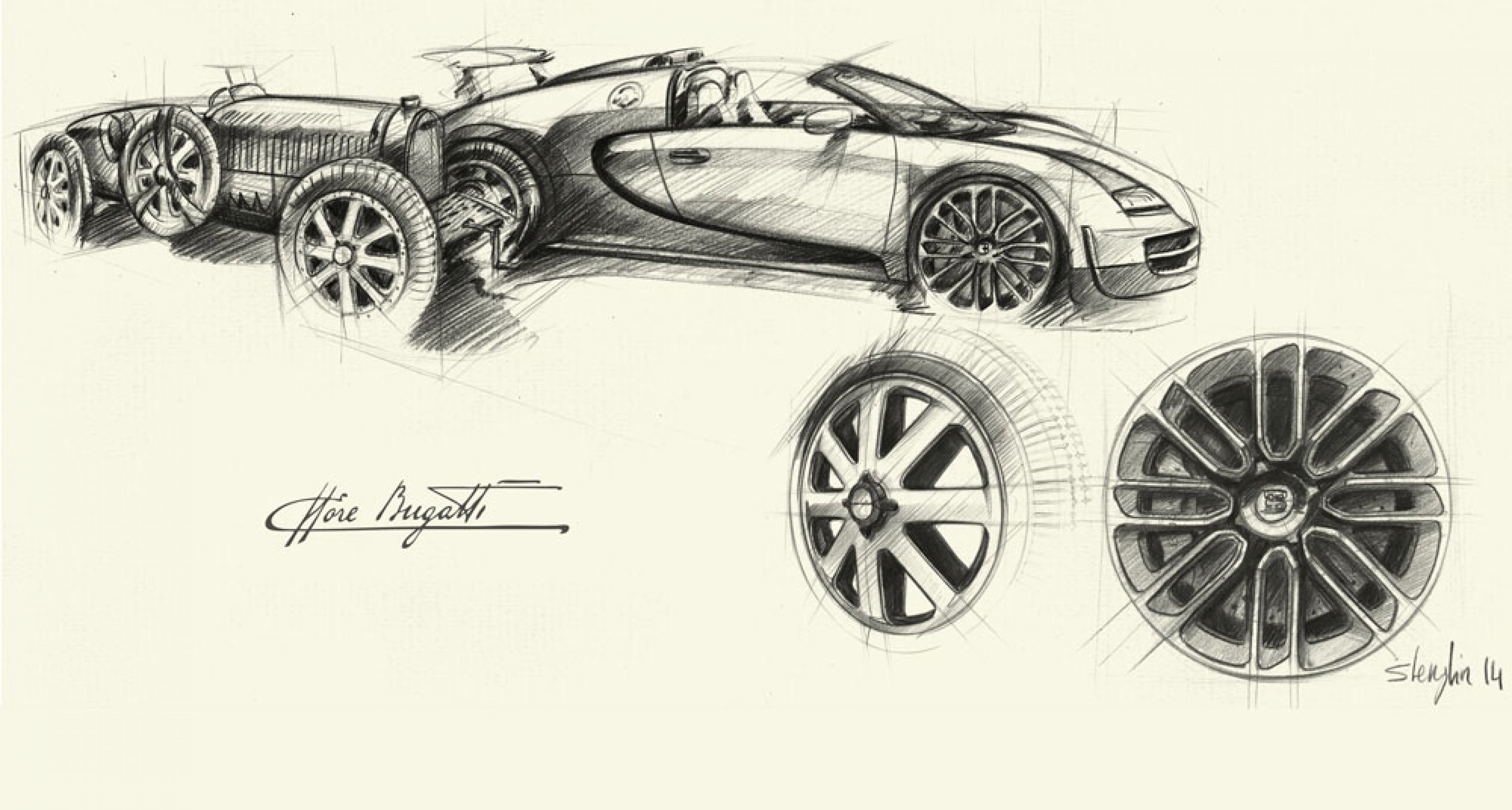 "Inspiration for the latest Bugatti creation was the Bugatti Type 41 Royale ""Ying Yang"""