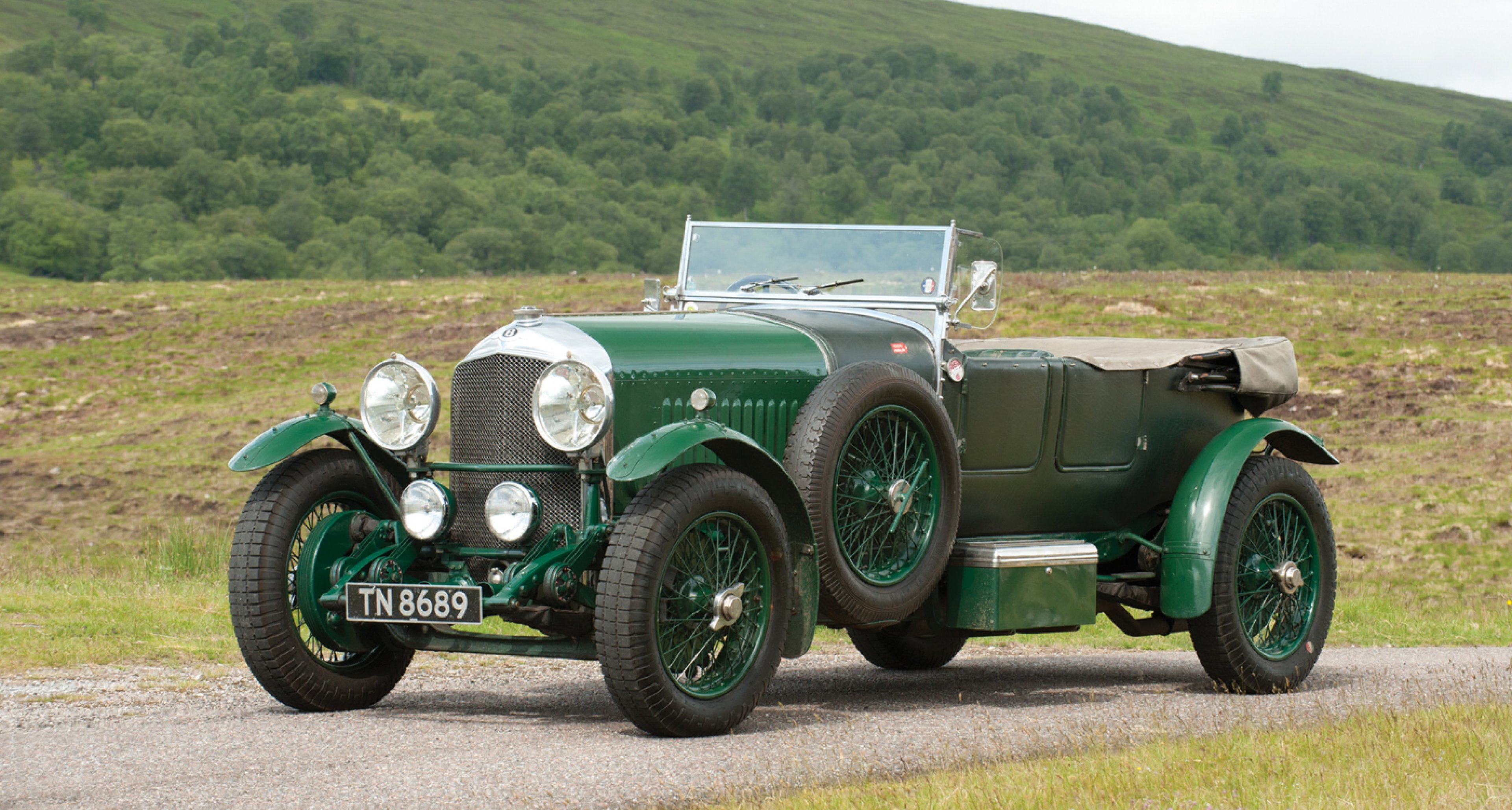 1929 Bentley 4½-Litre Open Tourer, estimate GBP 525,000 - 600,000.