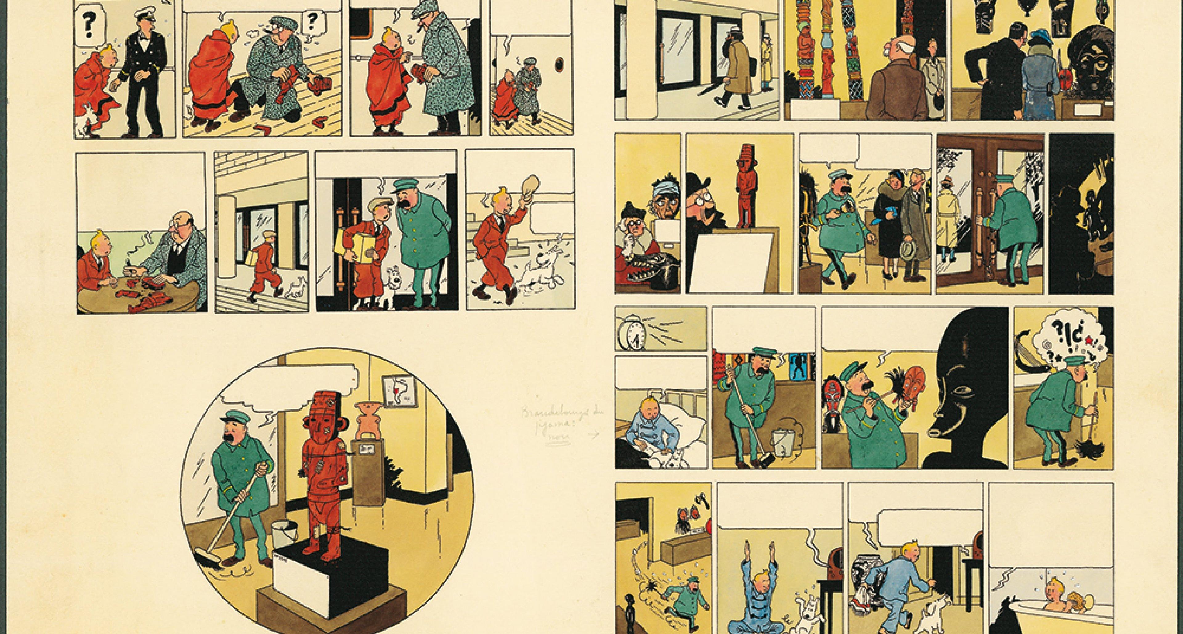 """Hergé, """"Les Aventures de Tintin - L'Oreille cassée"""" 1956. © Hergé/Moulinsart 2016"""