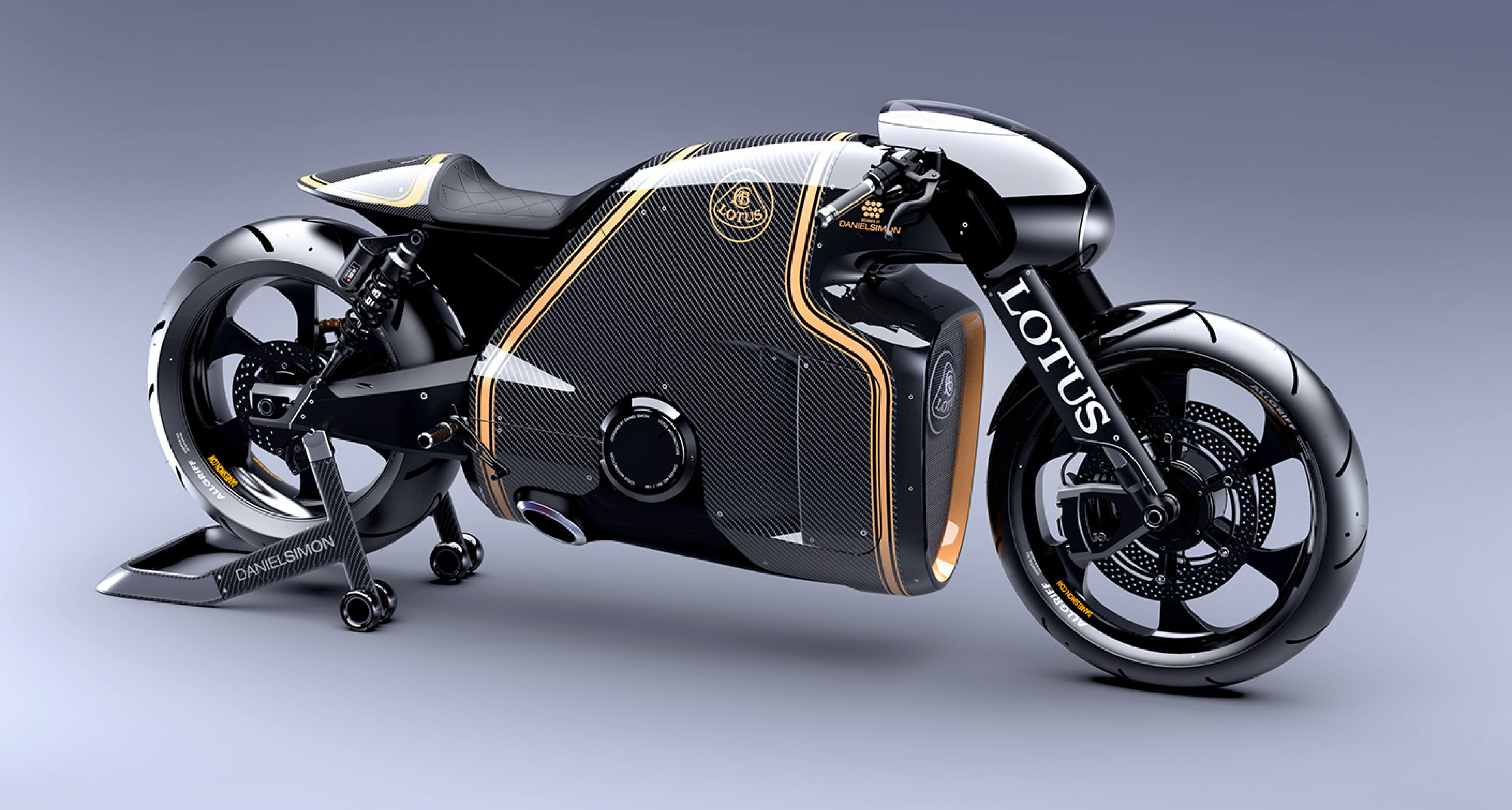 The Lotus Motorcycles C-01 is the first Lotus-badged bike
