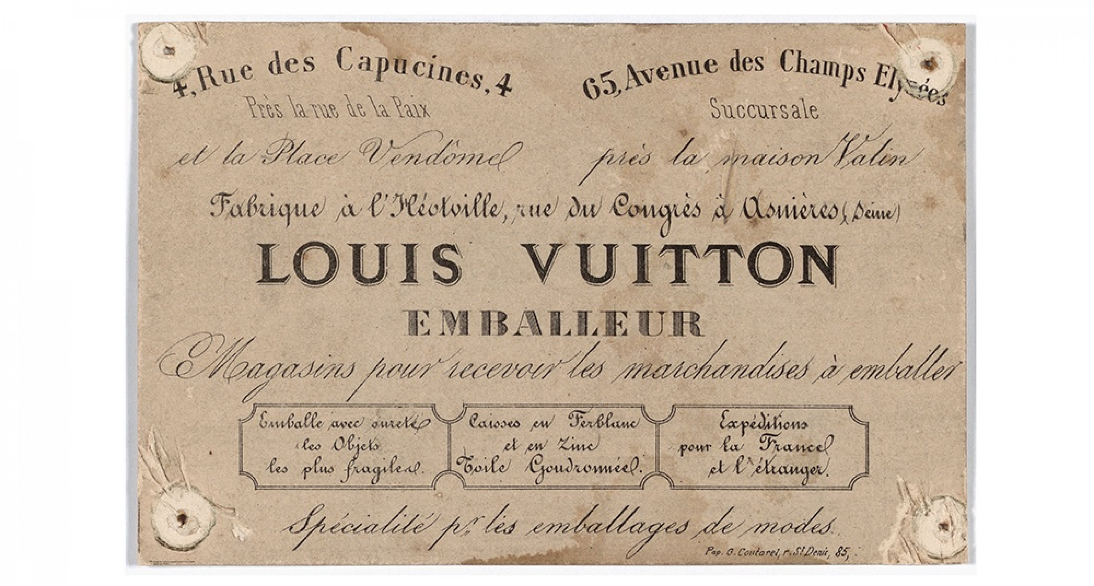 © ARCHIVES LOUIS VUITTON MALLETIER