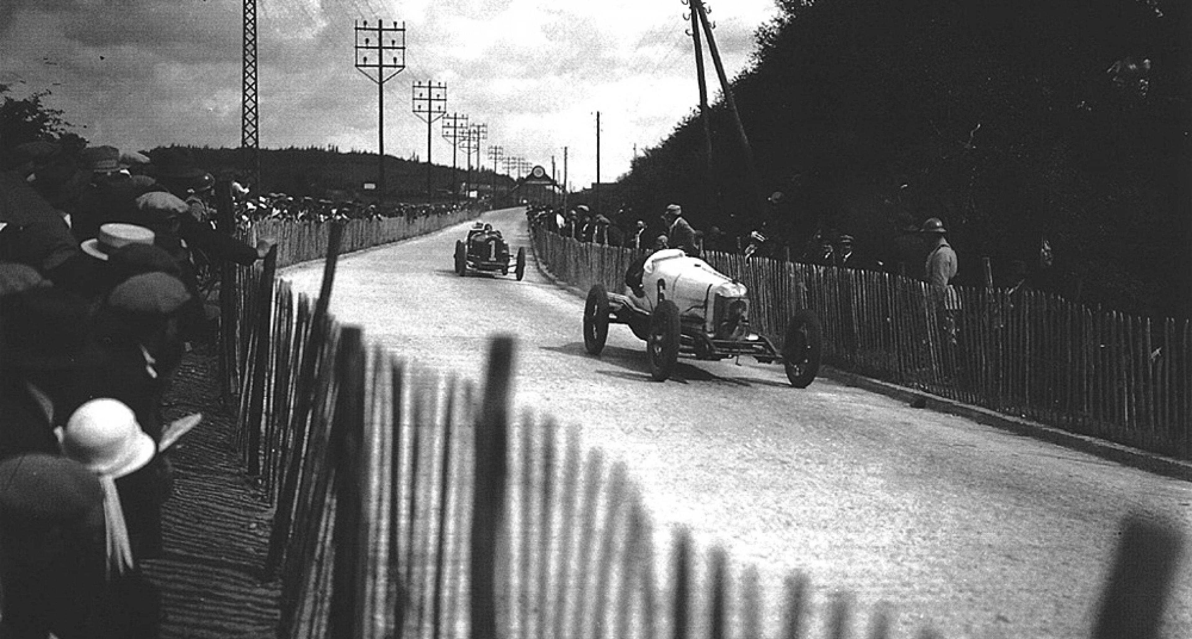 Louis Zborowski driving a Miller in 1924.