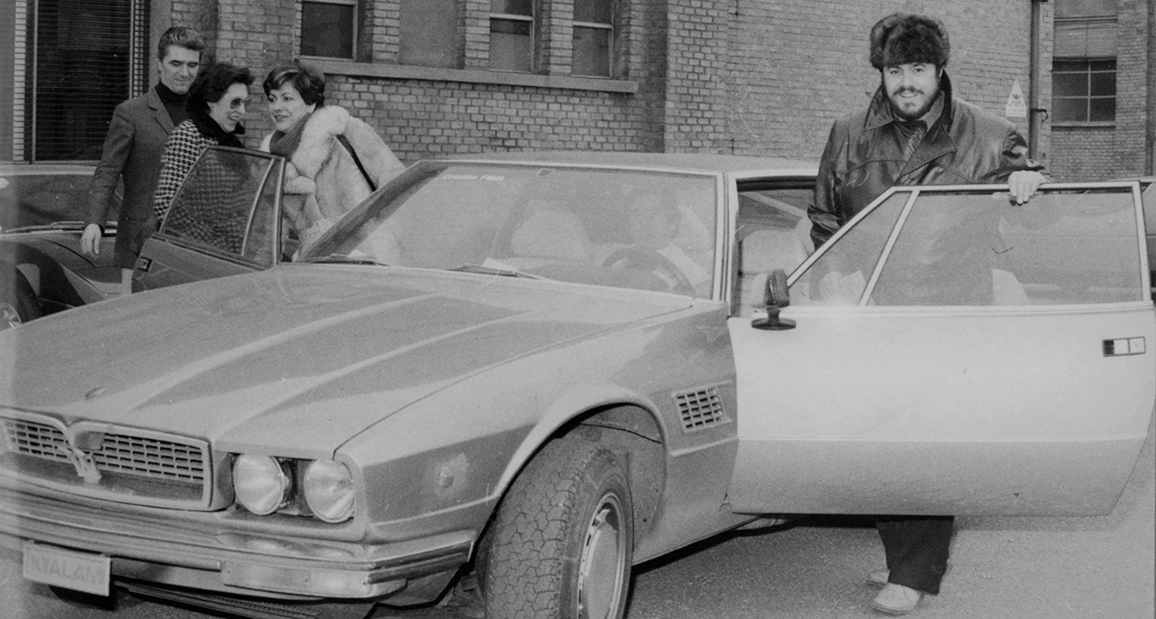 Pavarotti and Maserati, 1977