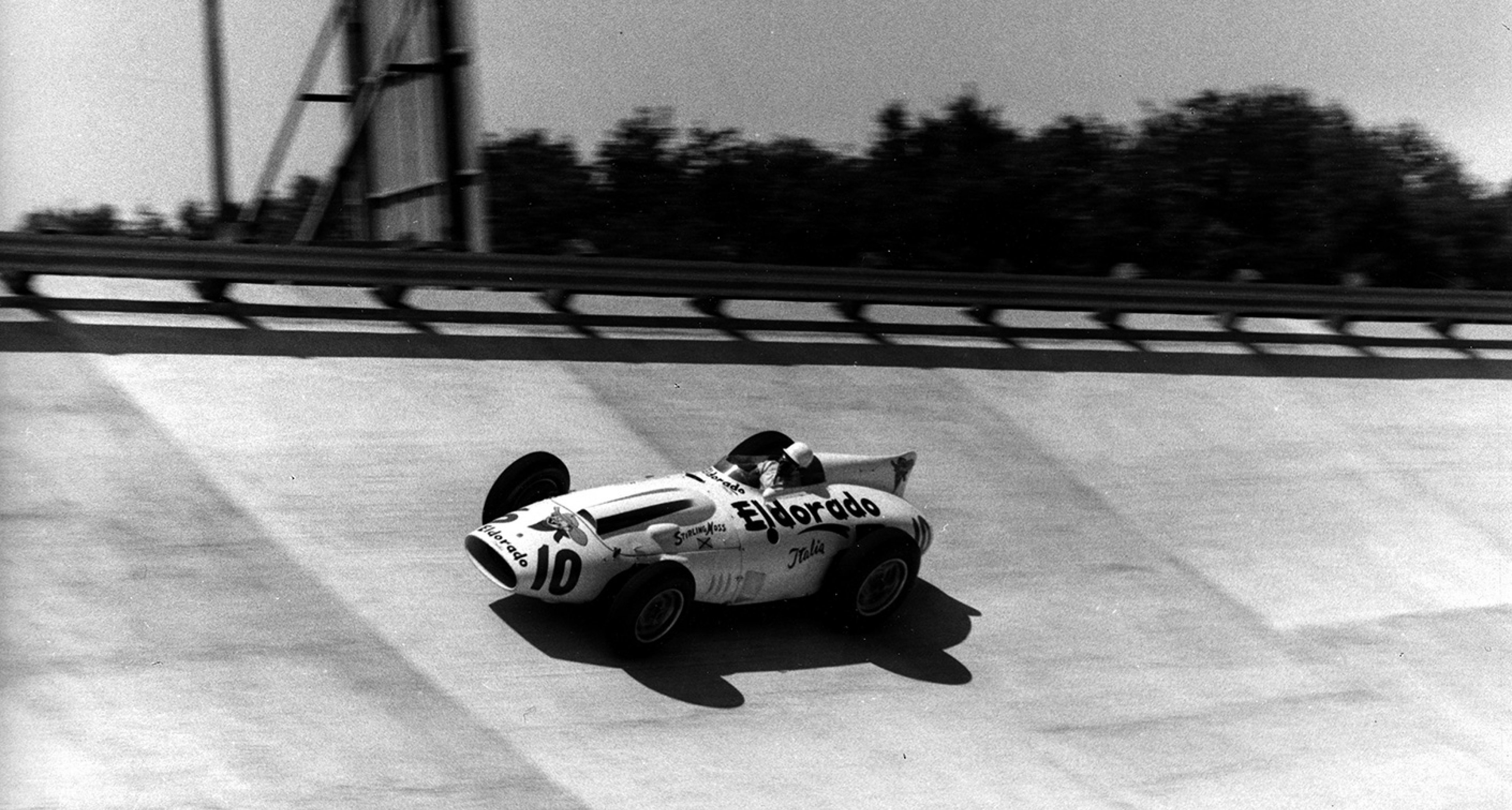 Sir Stirling Moss' Tipo 420/M/58 'Eldorado' at the 500 Miles of Monza in 1958