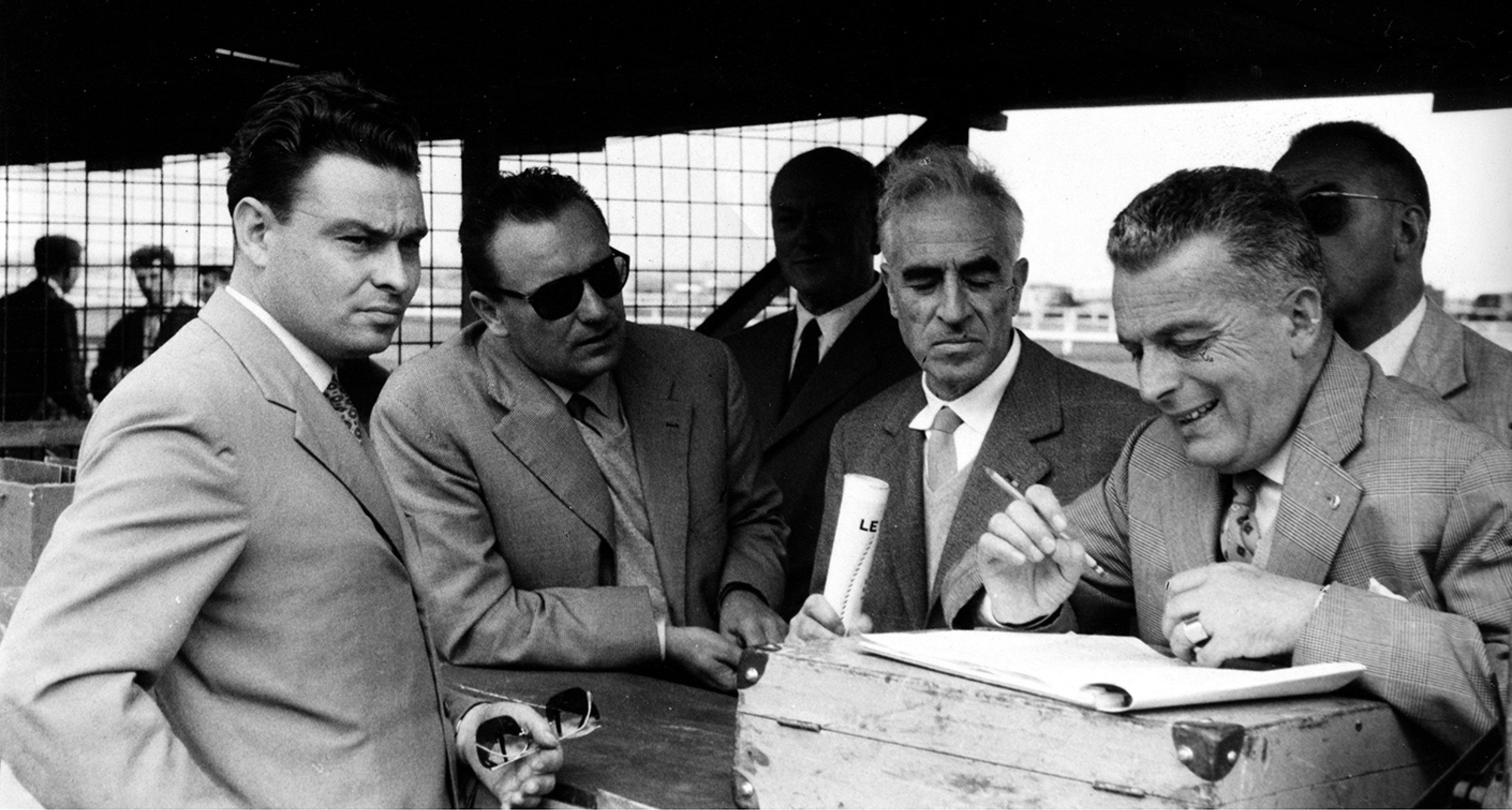 L-R: Giulio Alfieri, Omar Orsi, Giovanni Canestrini and Nello Ugolini