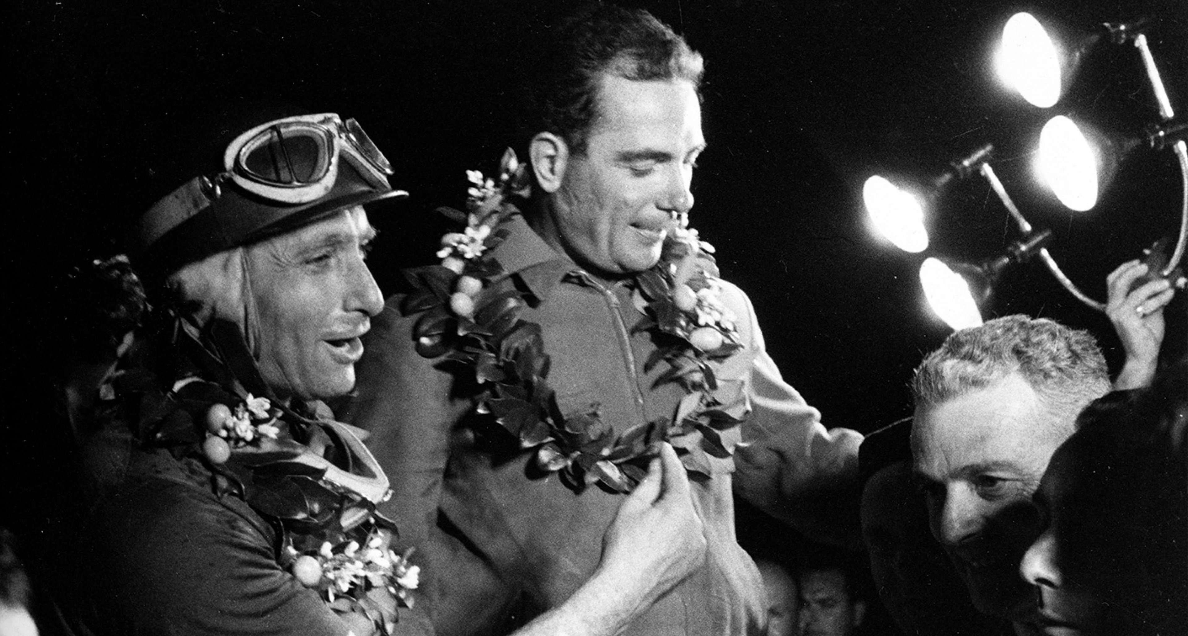 Juan Manuel Fangio and Jean Behra at the 1957 12 Hours of Sebring