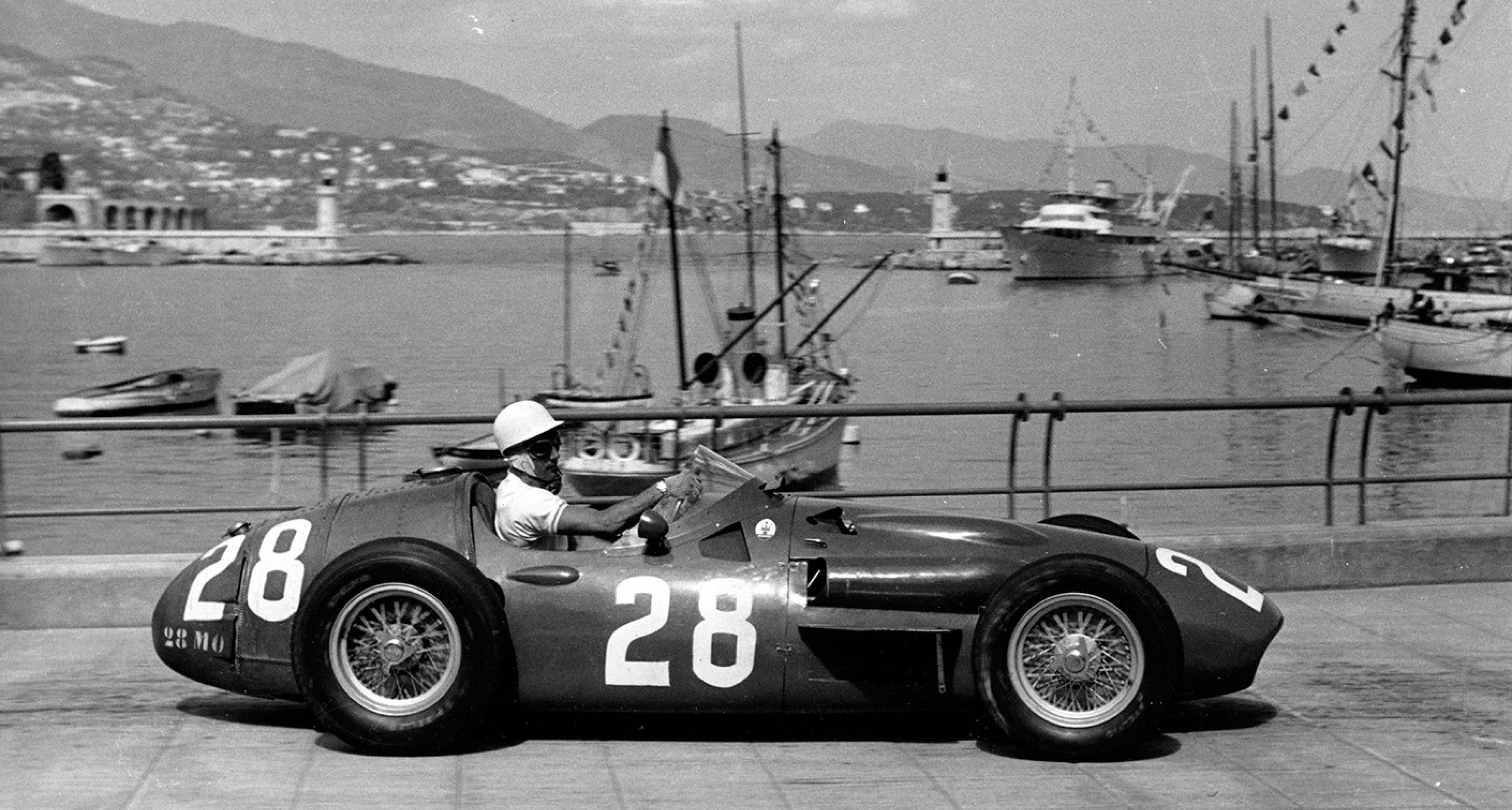 The 250F of Moss at Monaco, 1956