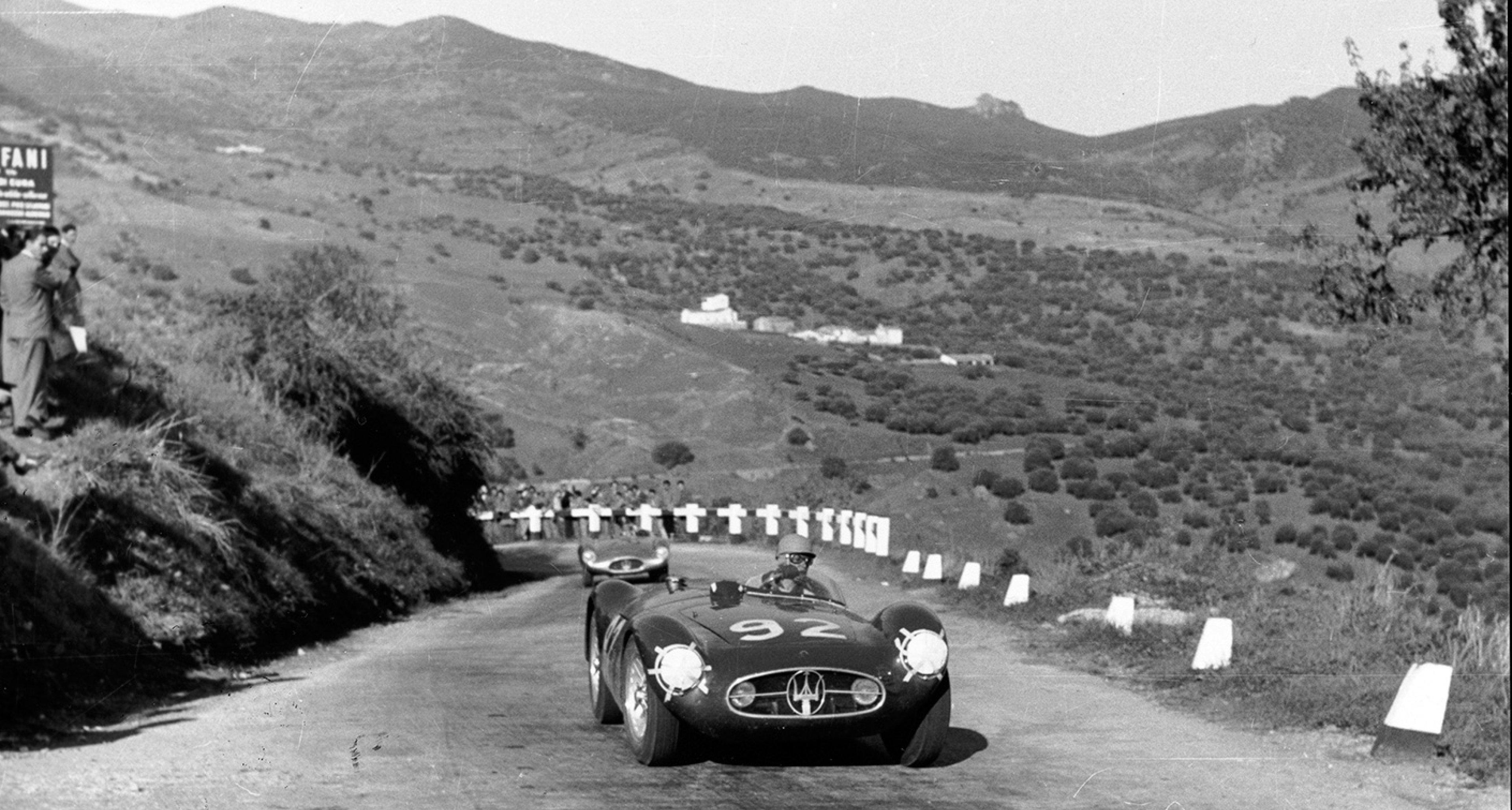 Maria Teresa De Filippis' A6GCS at Circuito delle Madonie, 1956