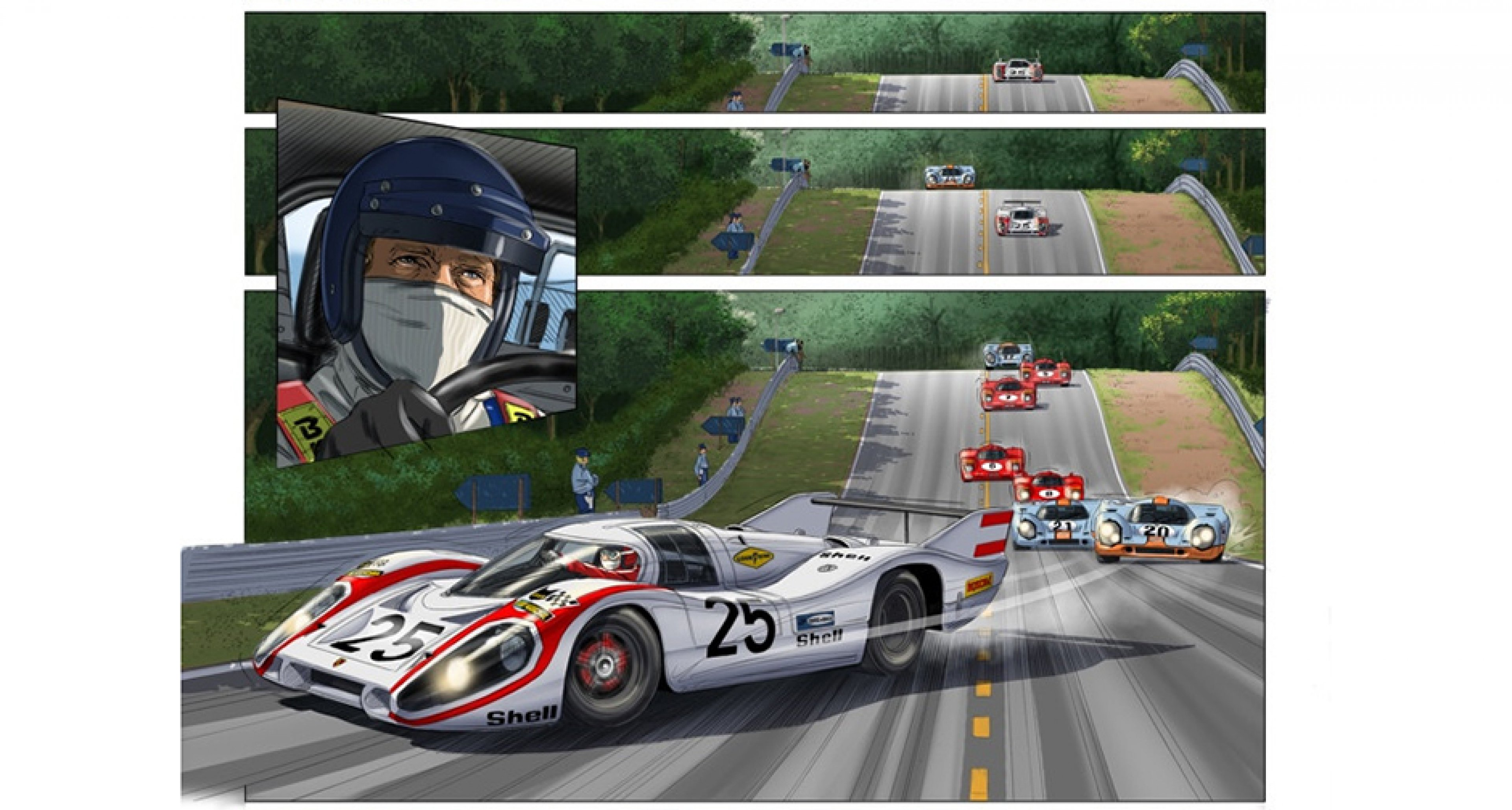 b72194bb23 This graphic adaptation of Le Mans is a new-age tribute to Steve ...