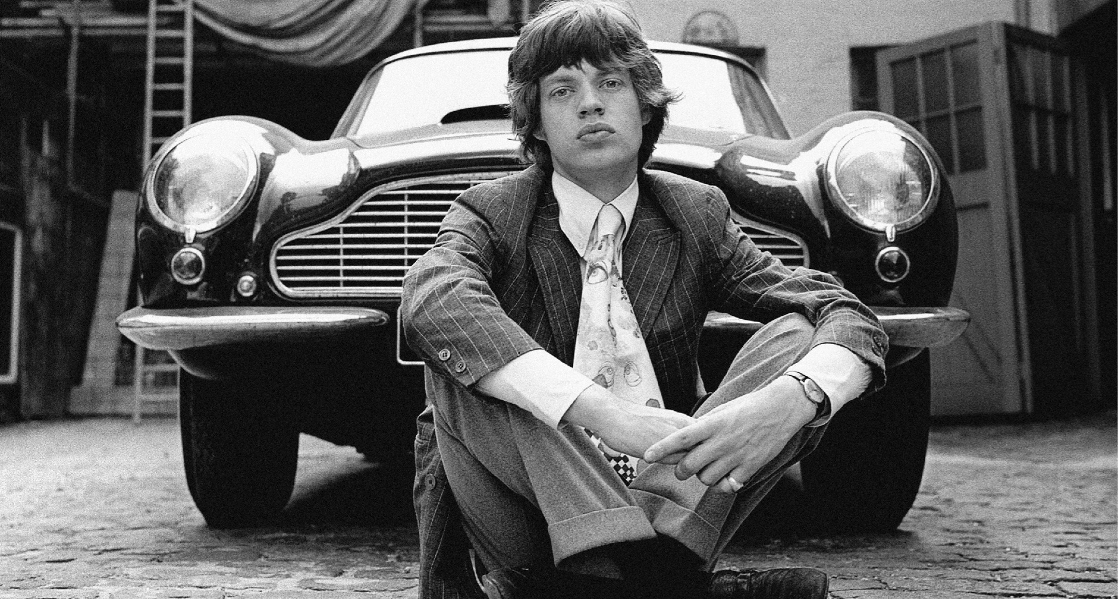 Mich Jagger und Sein Aston Martin