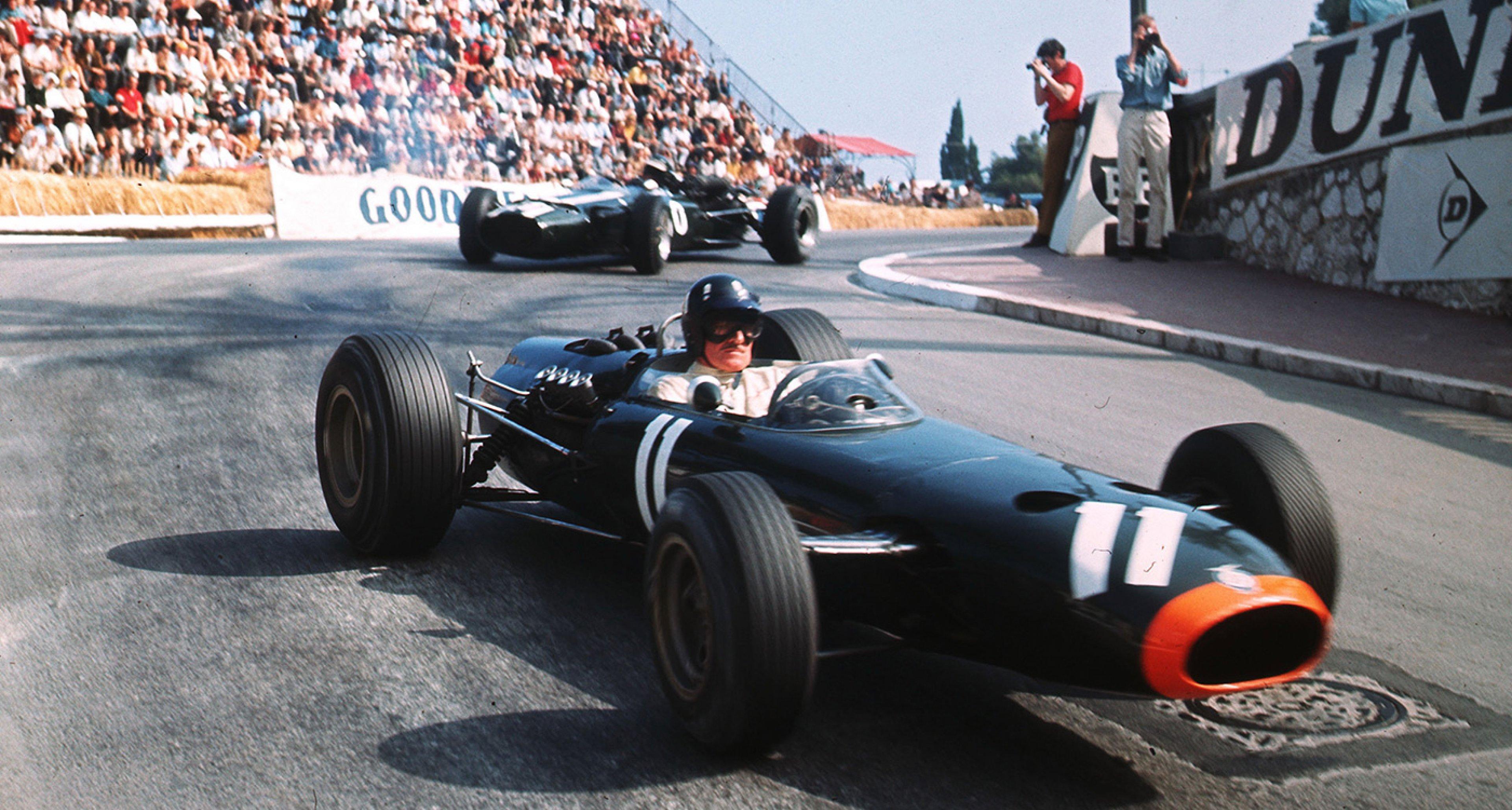 Graham 'Mr Monaco' Hill at the 1966 Monaco GP, one of the few he didn't win