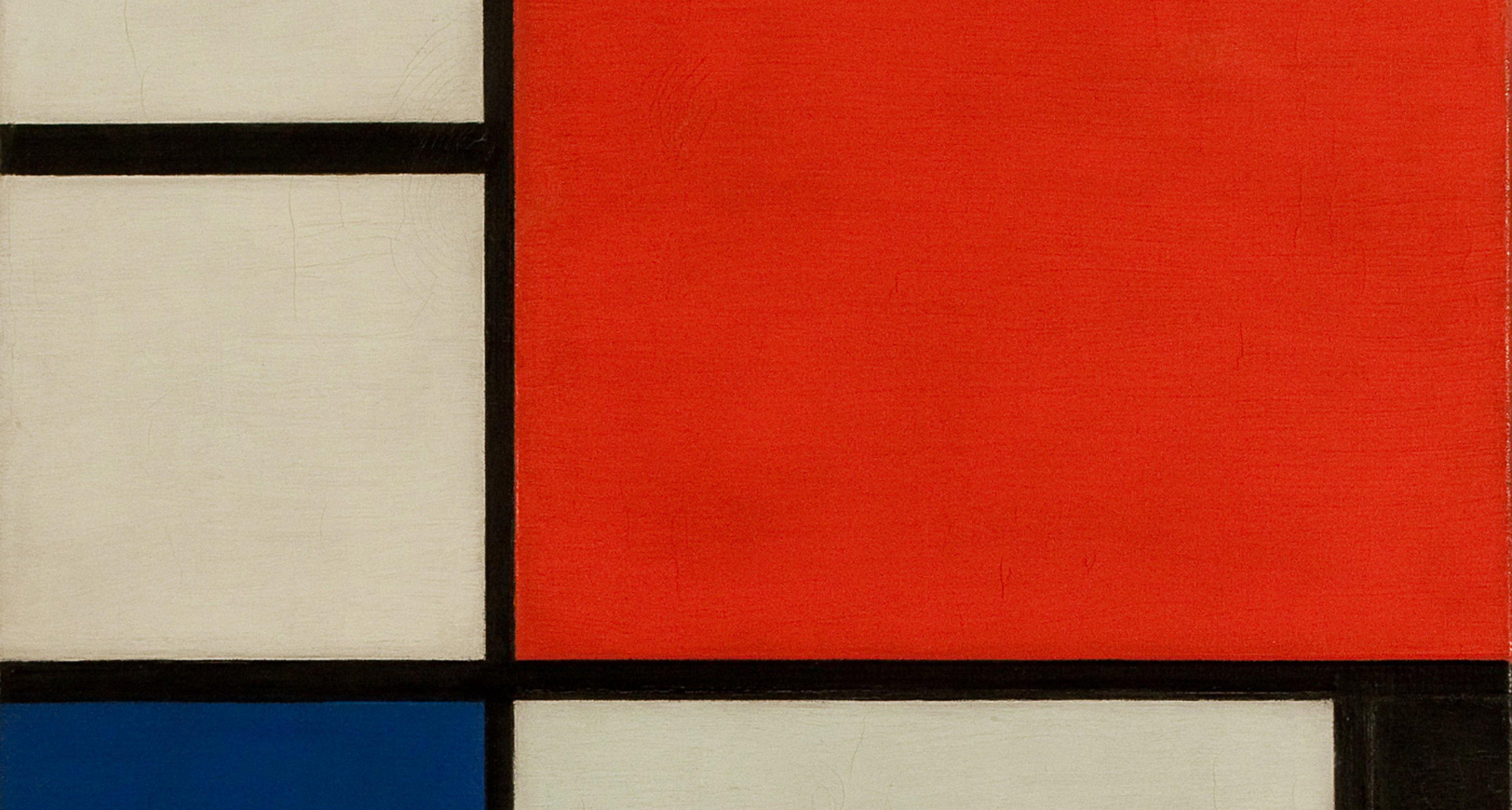 Piet Mondrian, Komposition Nr. II mit Rot, Blau, Schwarz und Gelb, 1929