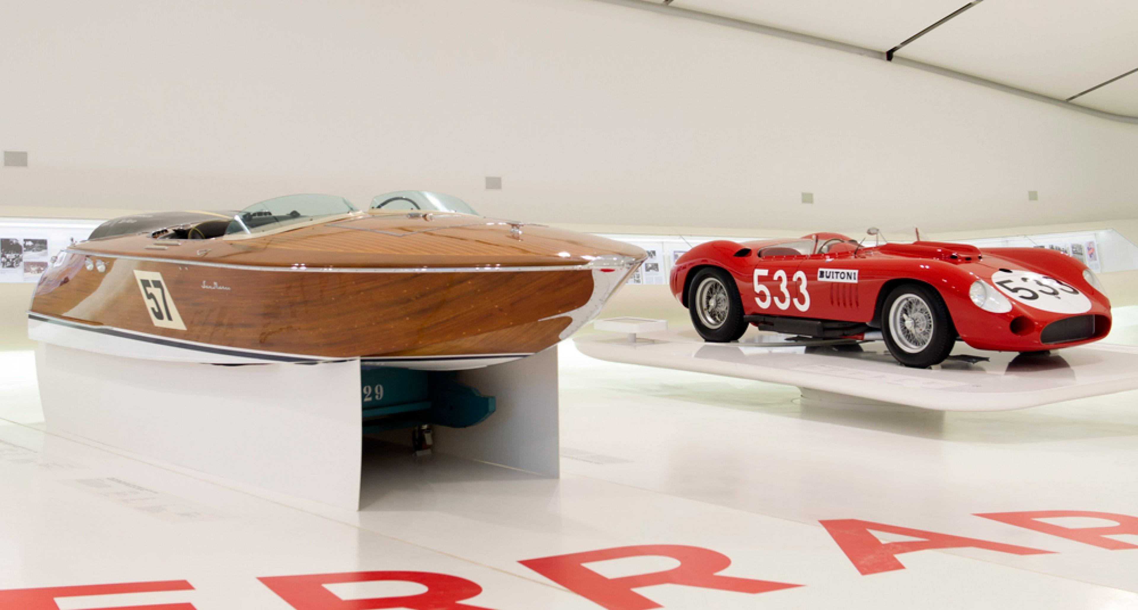 San Marco Maserati boat on display at Museo Cases Enzo Ferrari last year