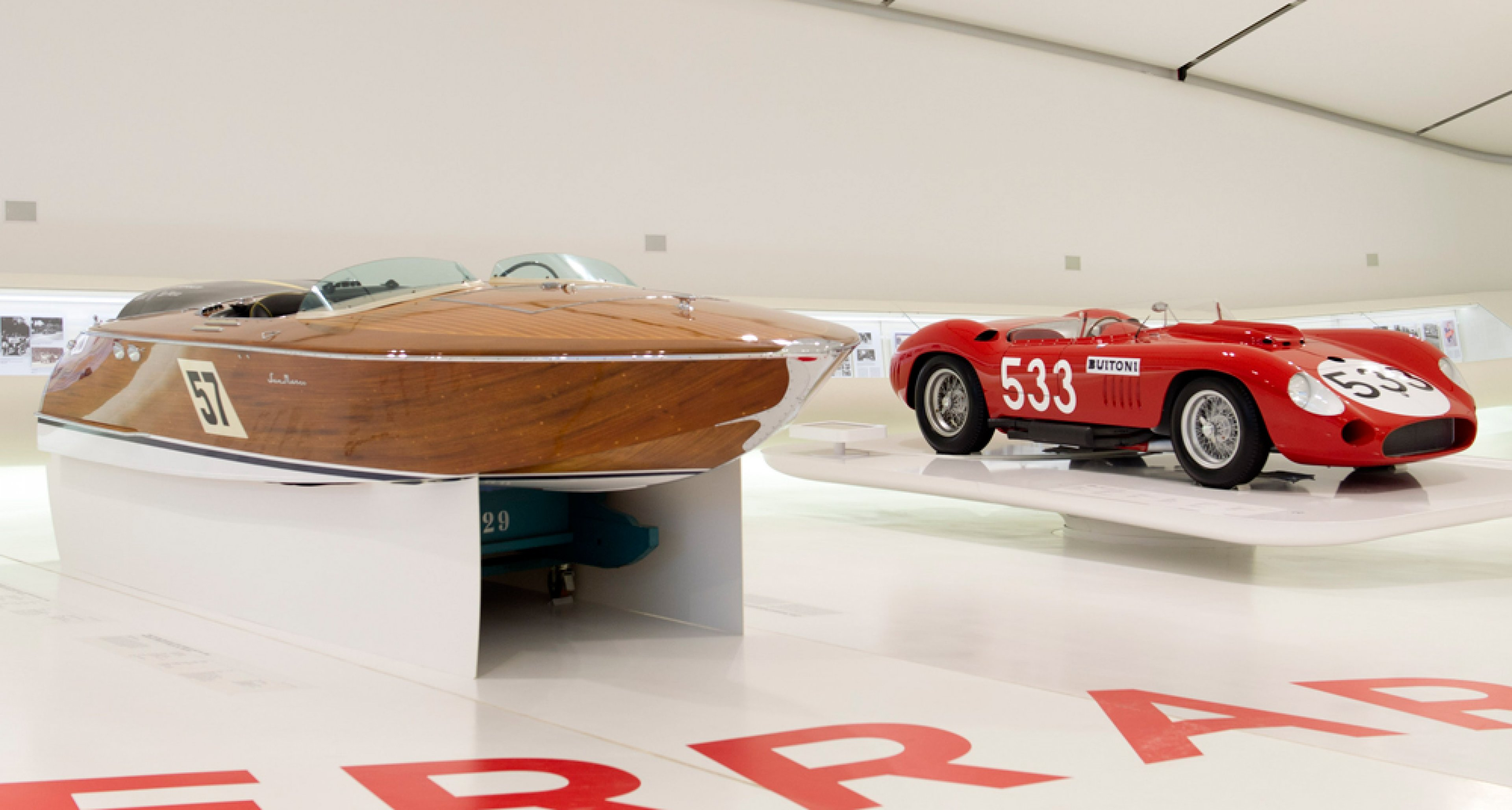 San Marco Maserati boat on display at Museo Cases Enzo Ferrari last year