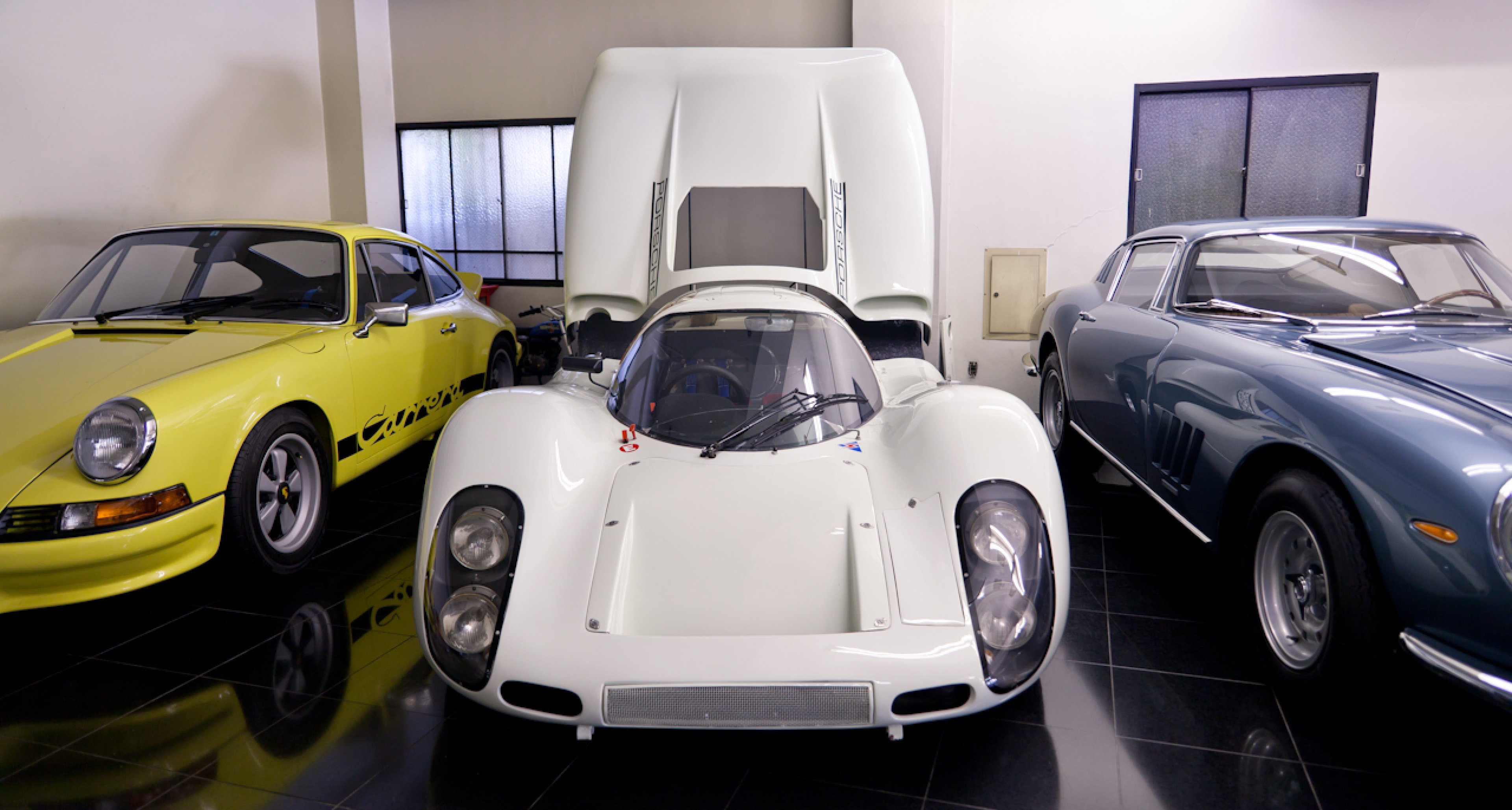 Naito-san used to drive this Porsche 907K, highly original with a documented race history, on the road. He claims it was very easy to drive round town.
