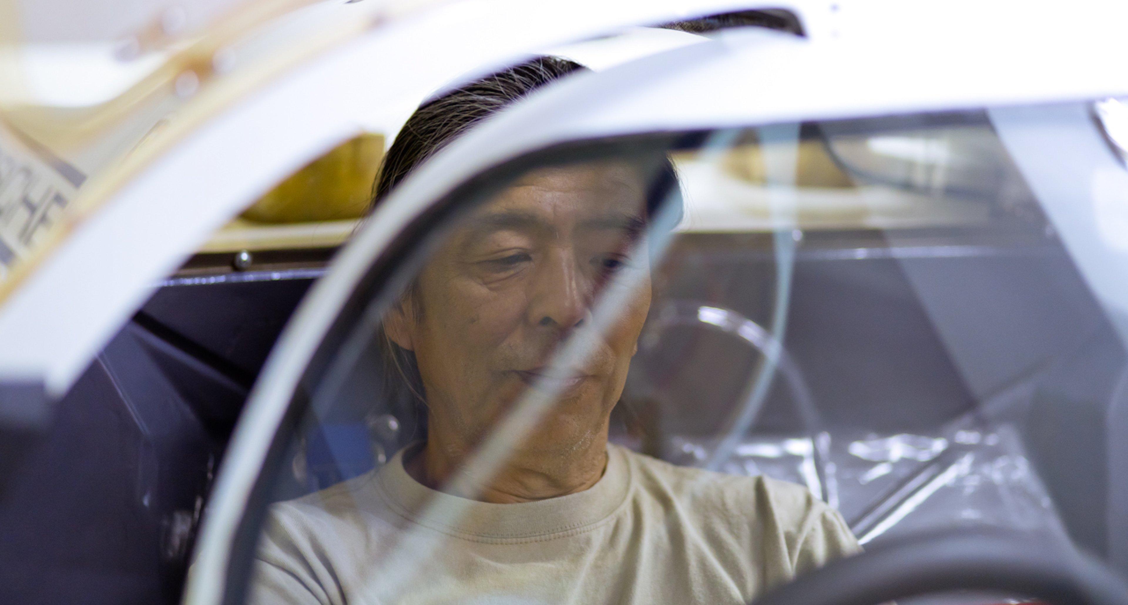 Naito-san at the wheel