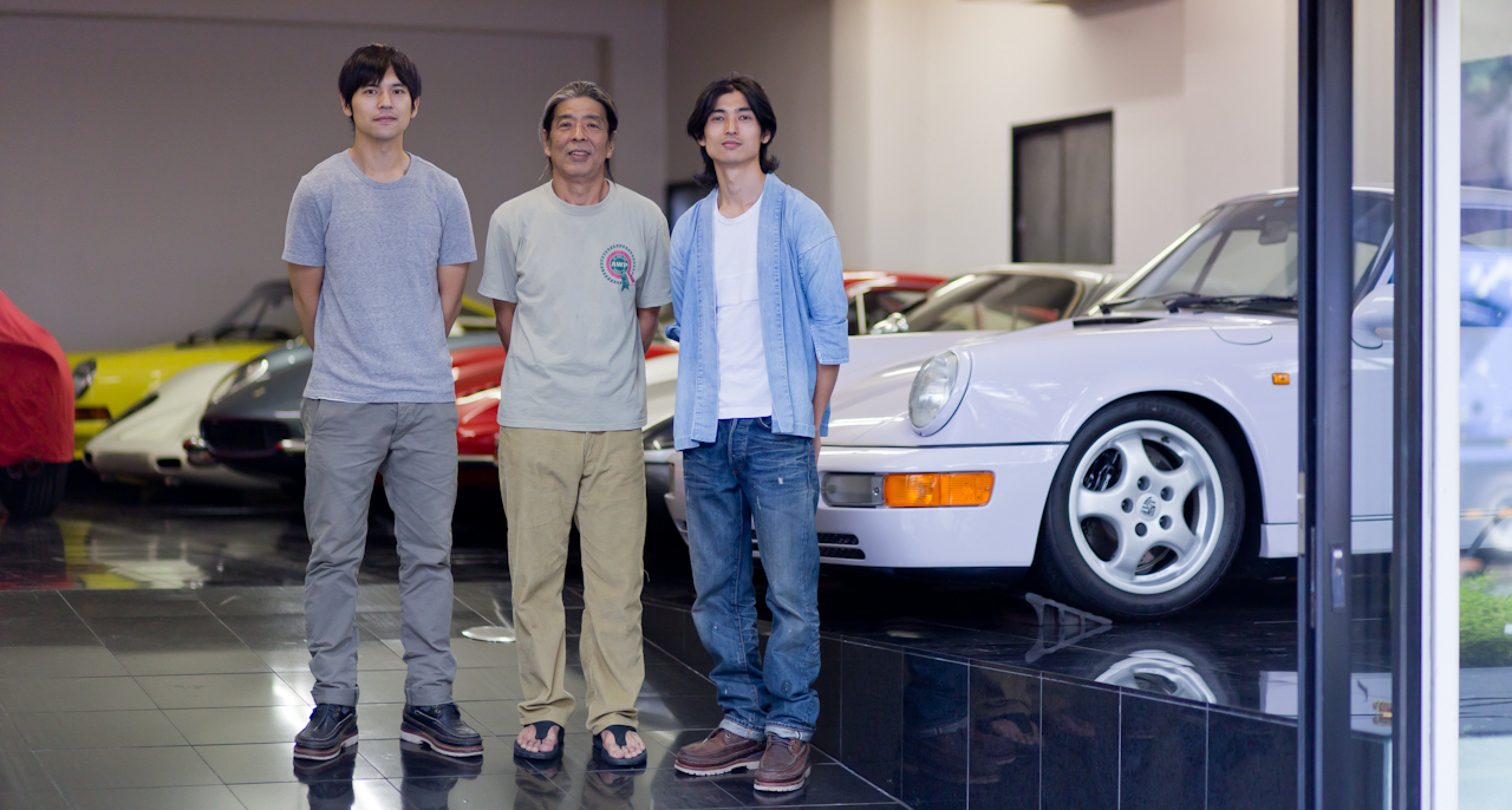 Natio-san with his sons, So and Kei.