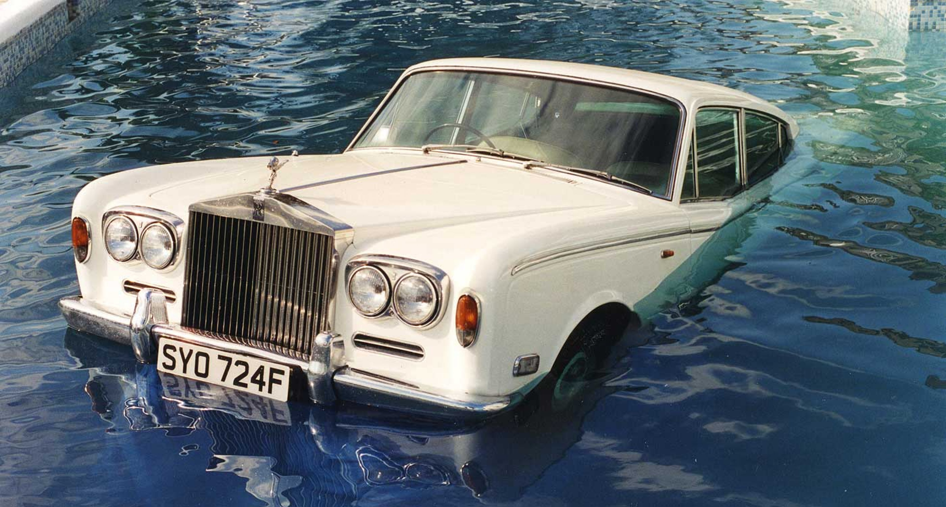 The Rolls-Royce in its final resting place, complete with Beatles-inspired numberplate