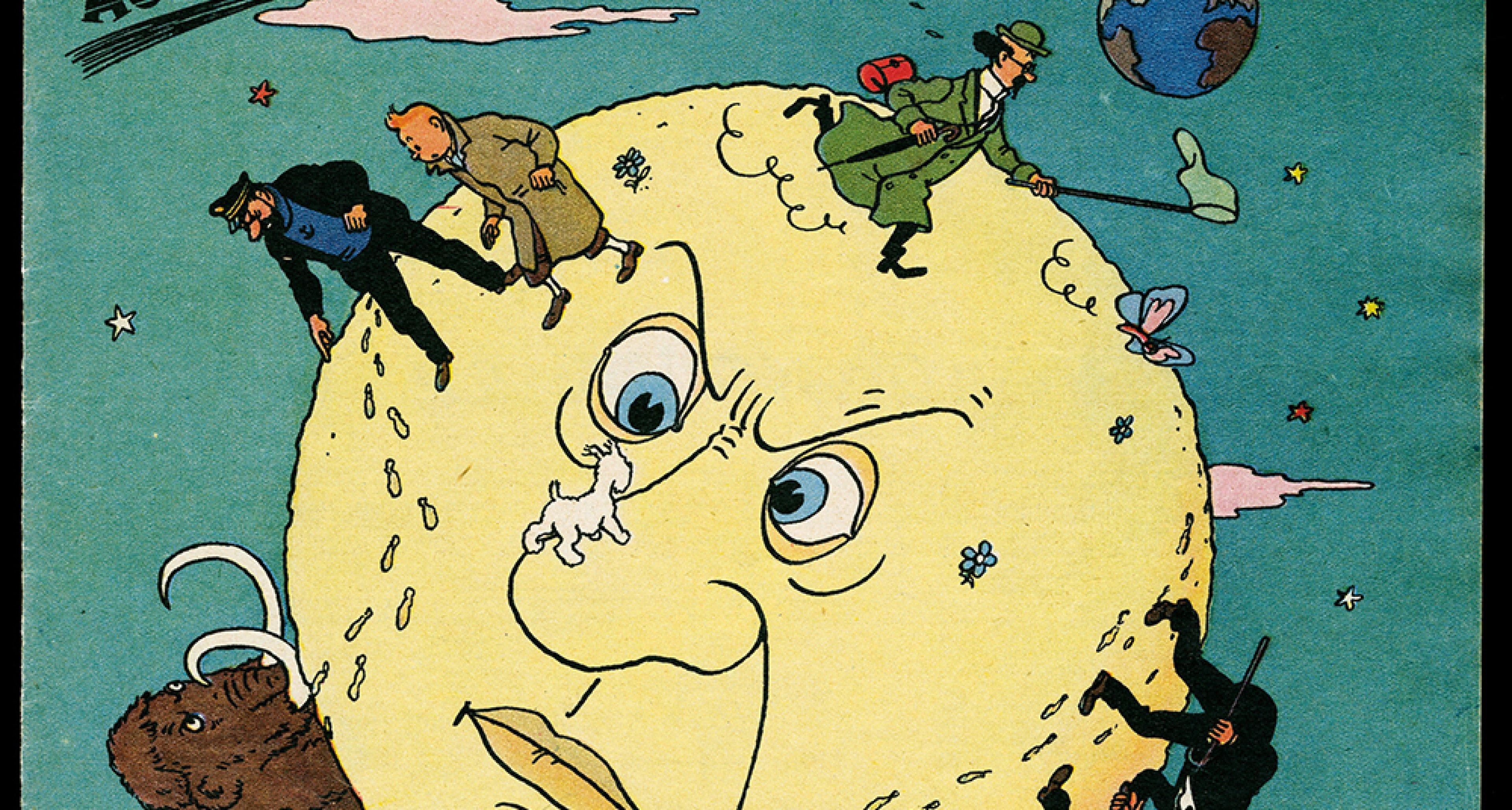 """Hergé """"Les Aventures de Tintin - Objectif Lune"""" 1950. © Hergé/Moulinsart 2016"""