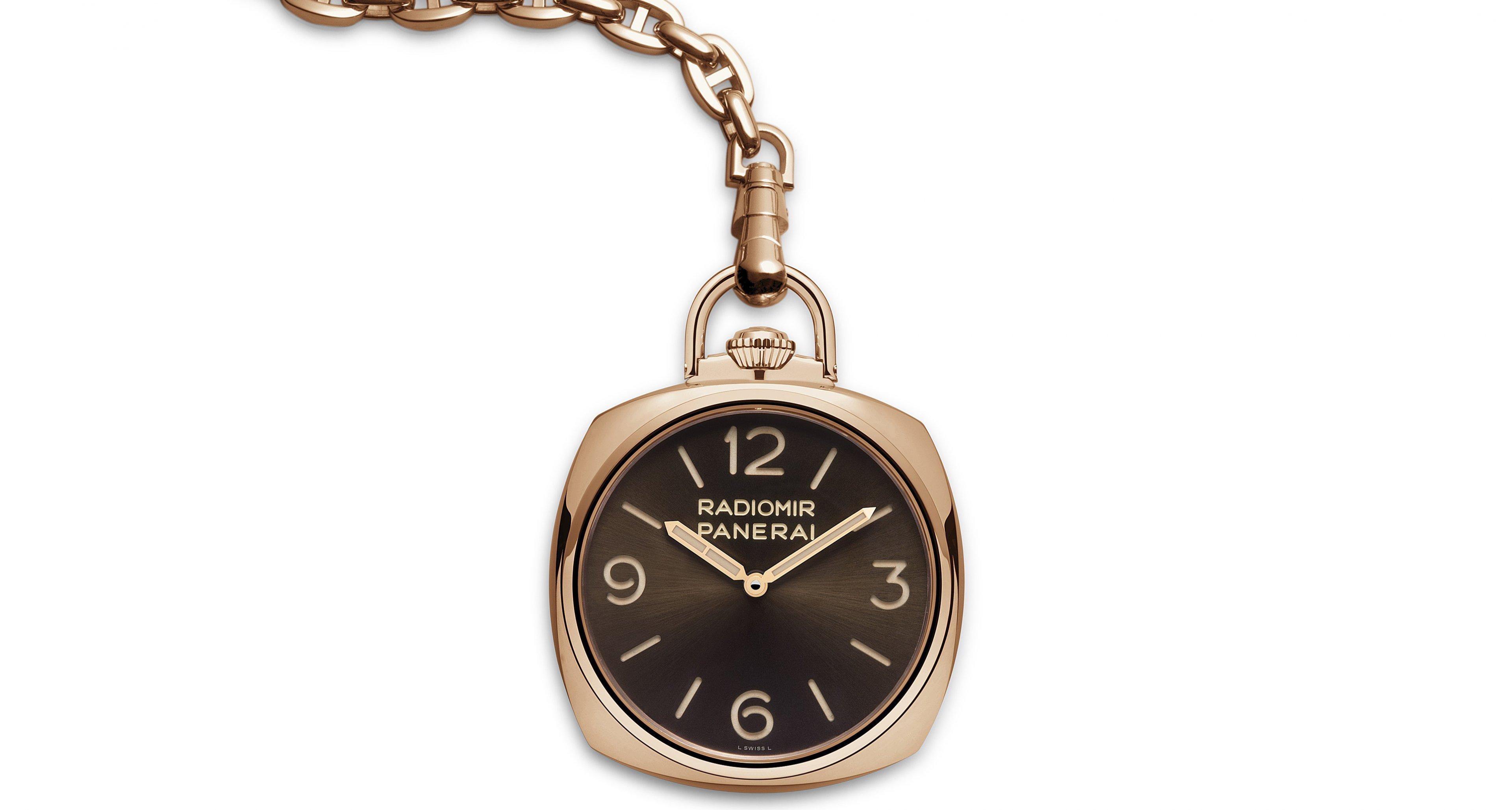 Panerai's modern and stylish interpretation of a pocket watch (55.000,-€)