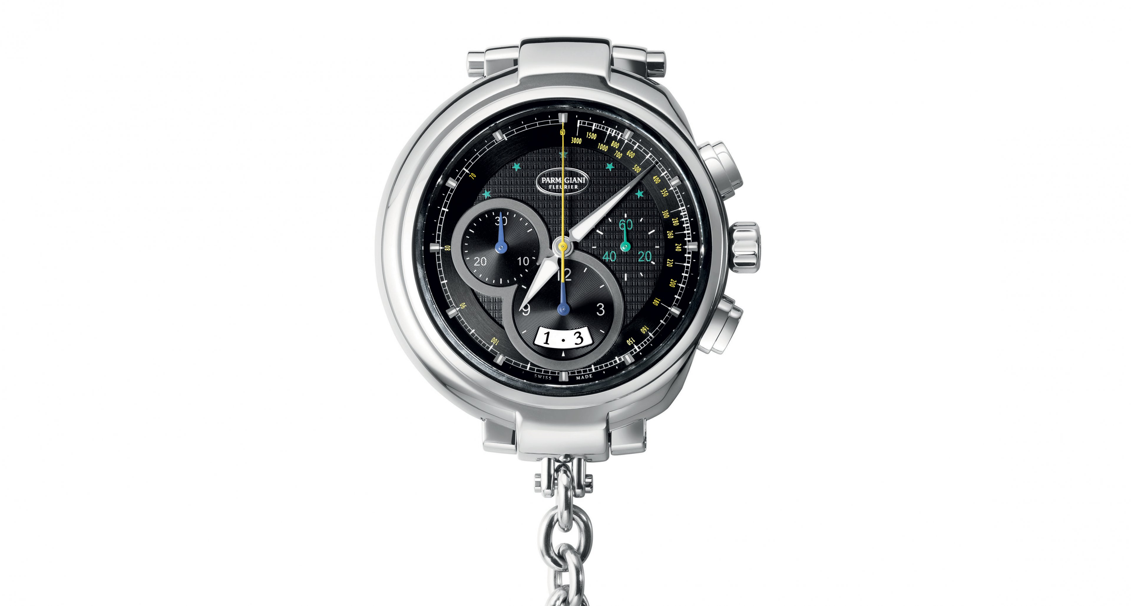 You can wear the Parmegani Transforma either as pocket watch or as wrist watch (56.900,-€)