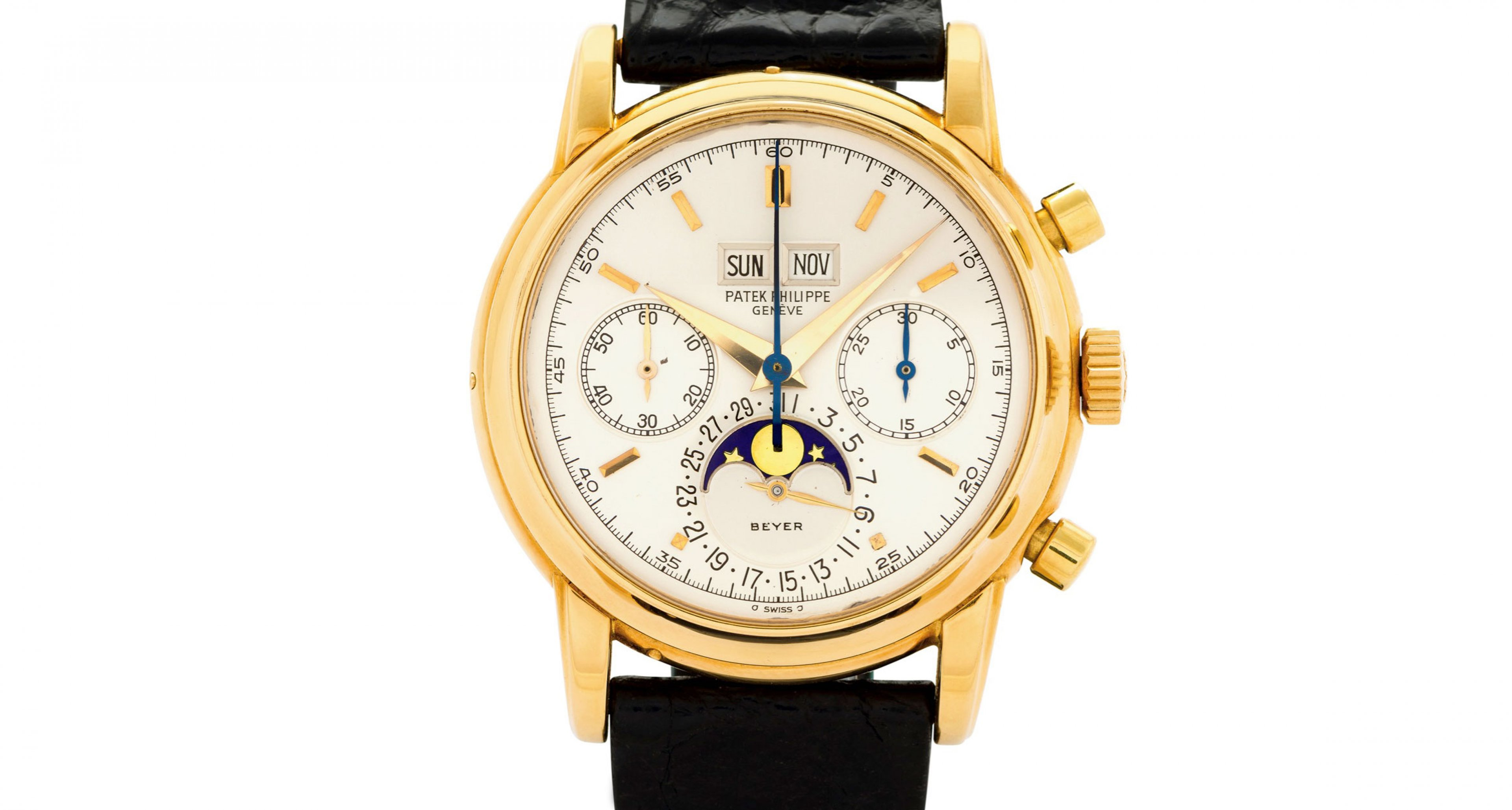 Thies Patek sold by Antiquorum for over 380.000 Swiss Francs is a young classic. It was sold in April 1981