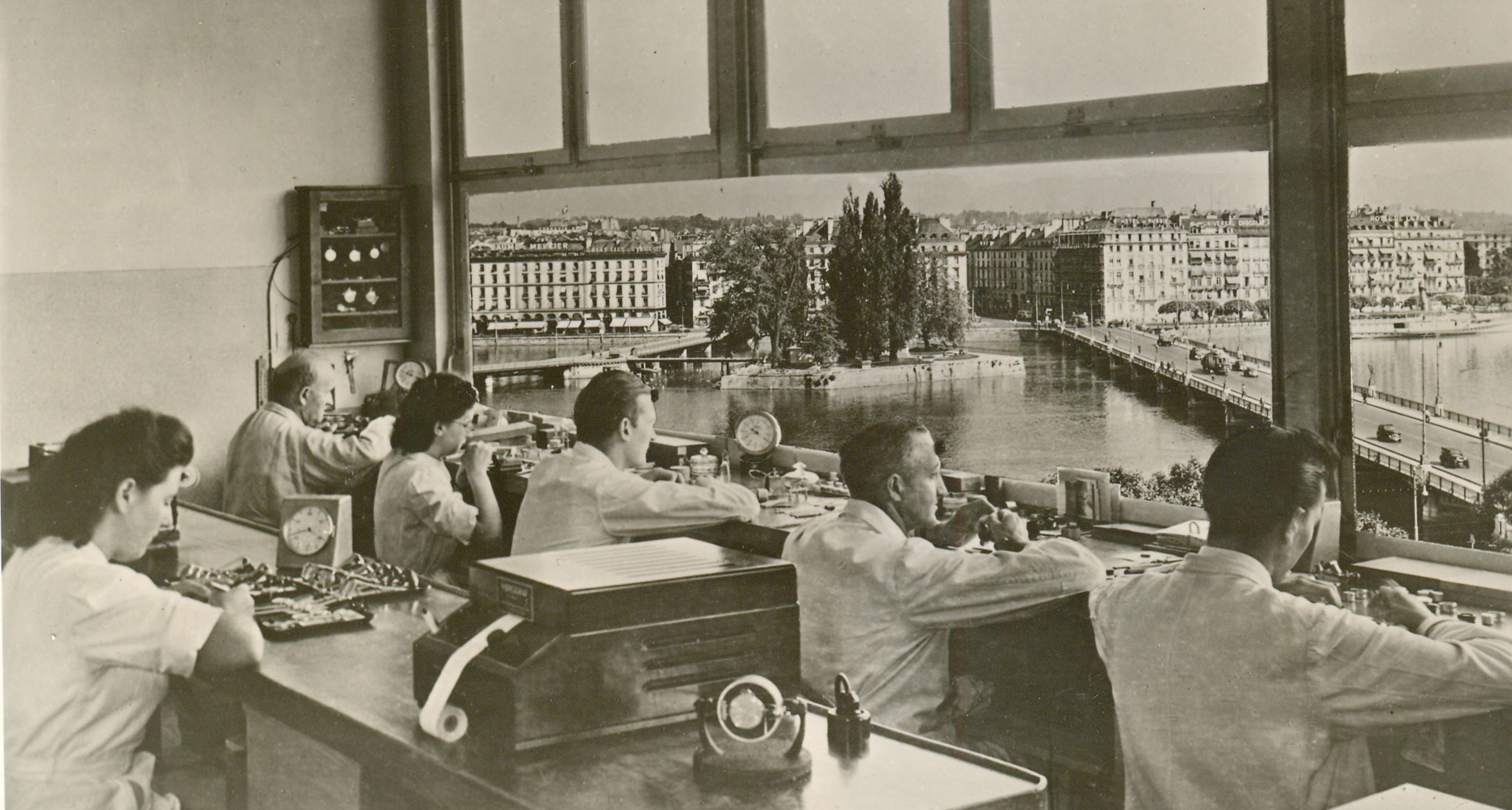 Workshop with a view! The Patek workshop in the 1950s