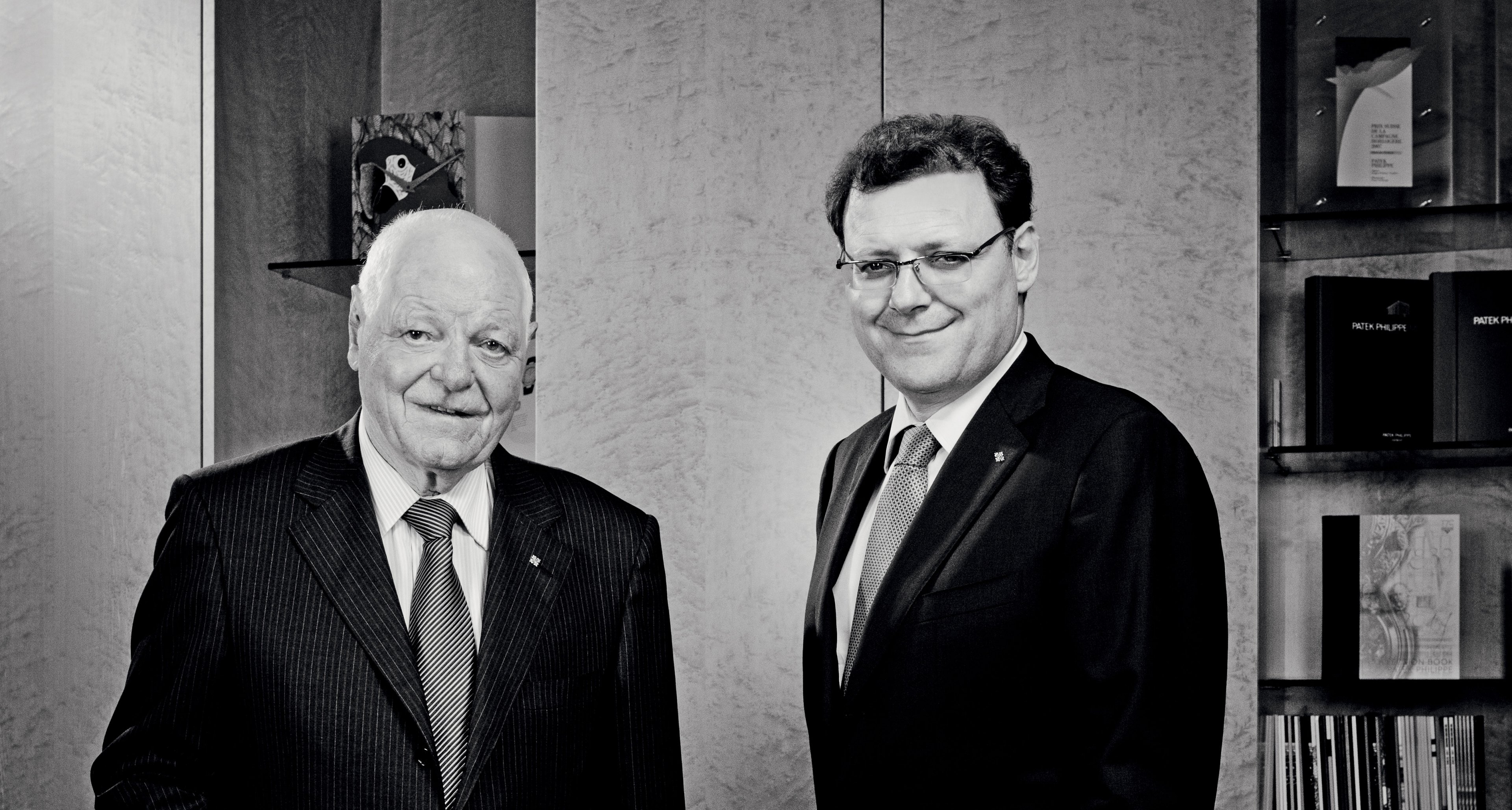 Father and son Philippe Stern and his son the president of Patek Thierry