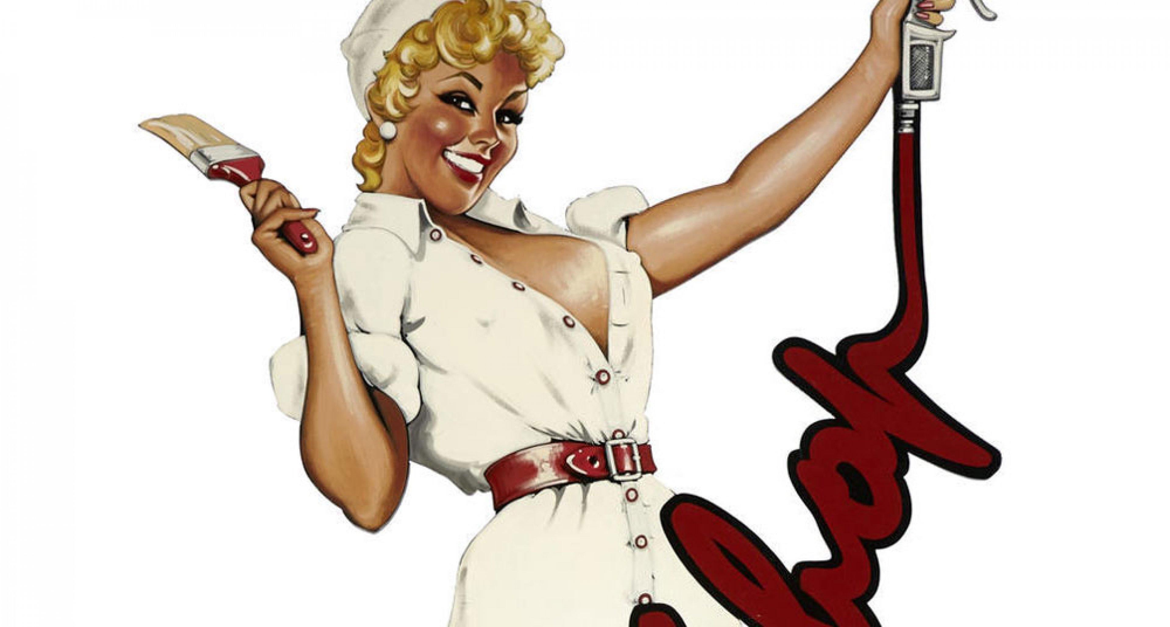 Tony Upson: Paint Shop Girl is for sale at the Bonhams Quail Lodge Auction