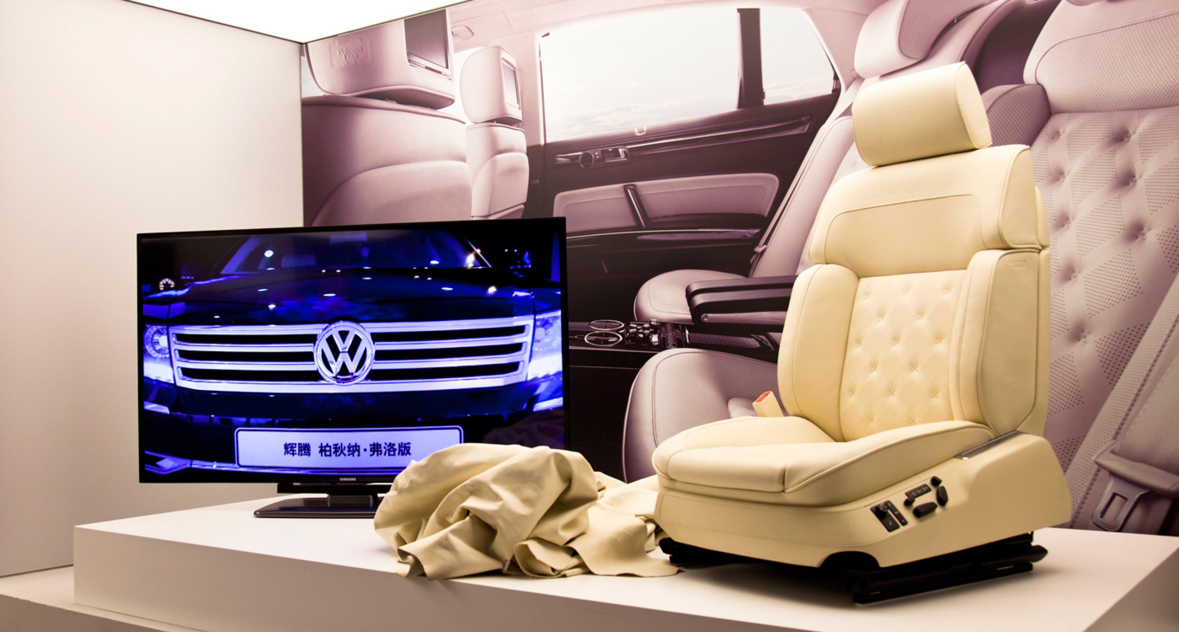 Seat for VW Phaeton at Poltrona Frau Museum.