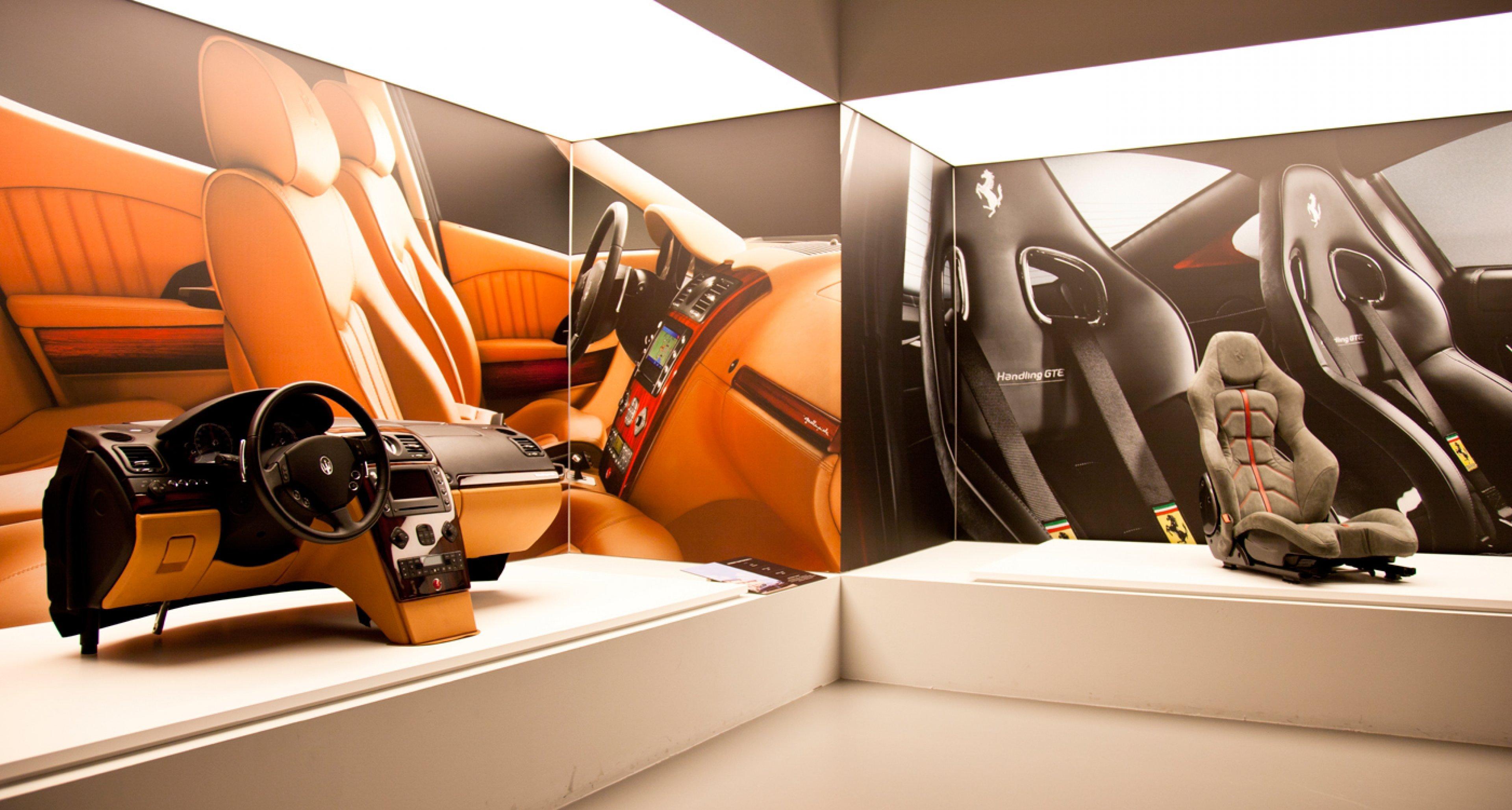 Seats for Maserati Quattroporte and Ferrari 599 GTB at Poltrona Frau Museum.