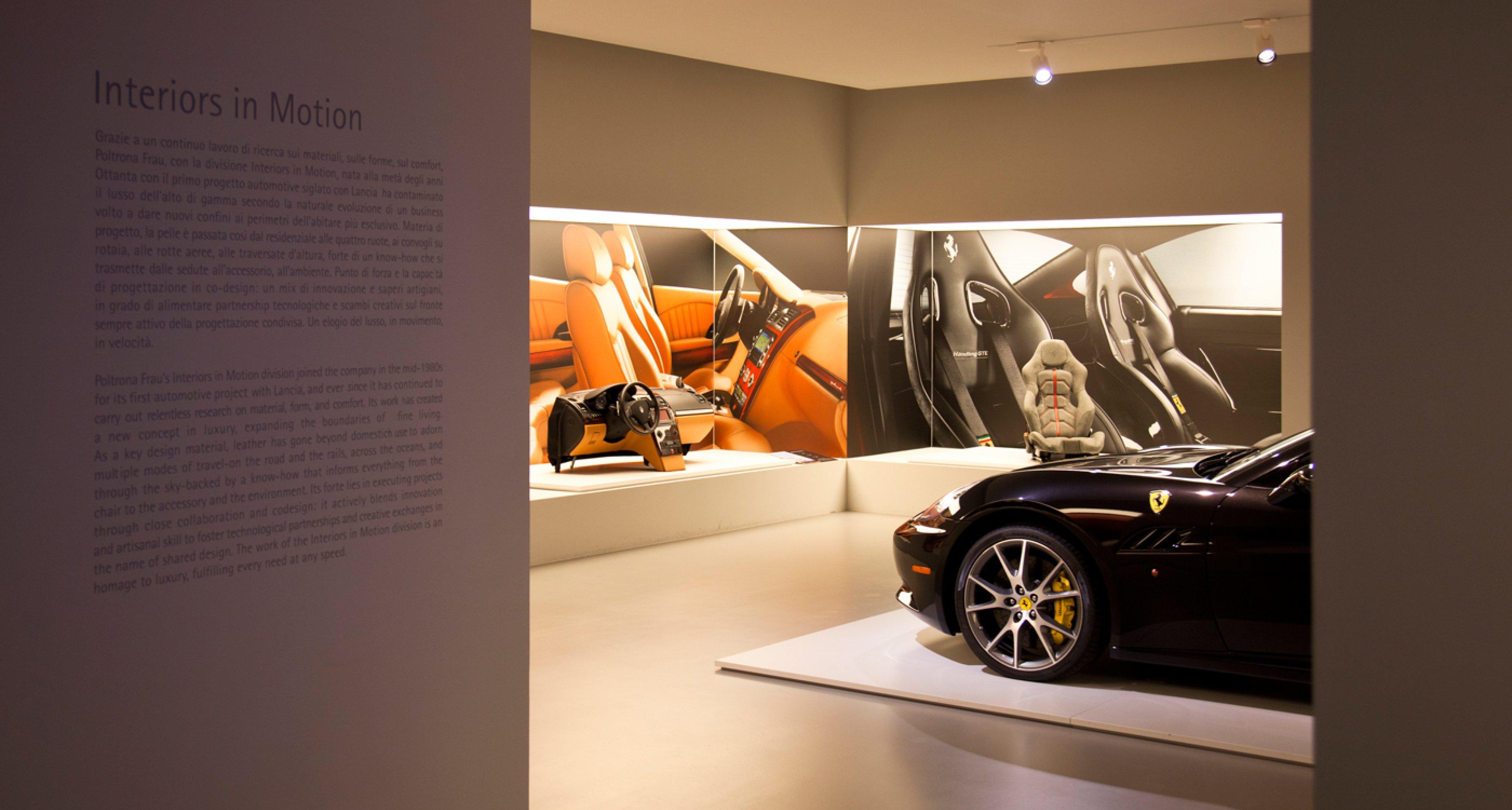 Ferrari California at Poltrona Frau Museum.