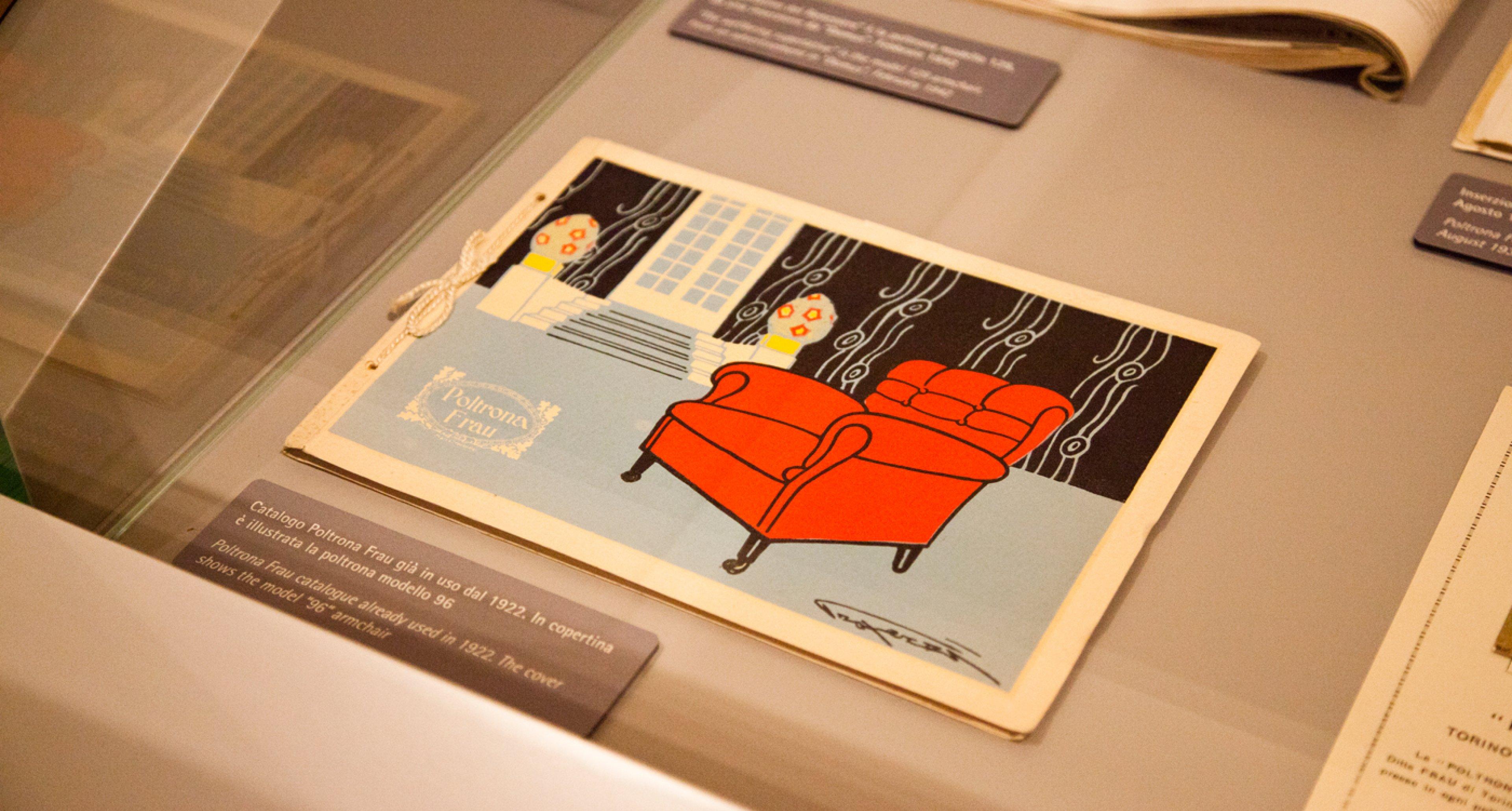 Vintage ad at Poltrona Frau Museum.