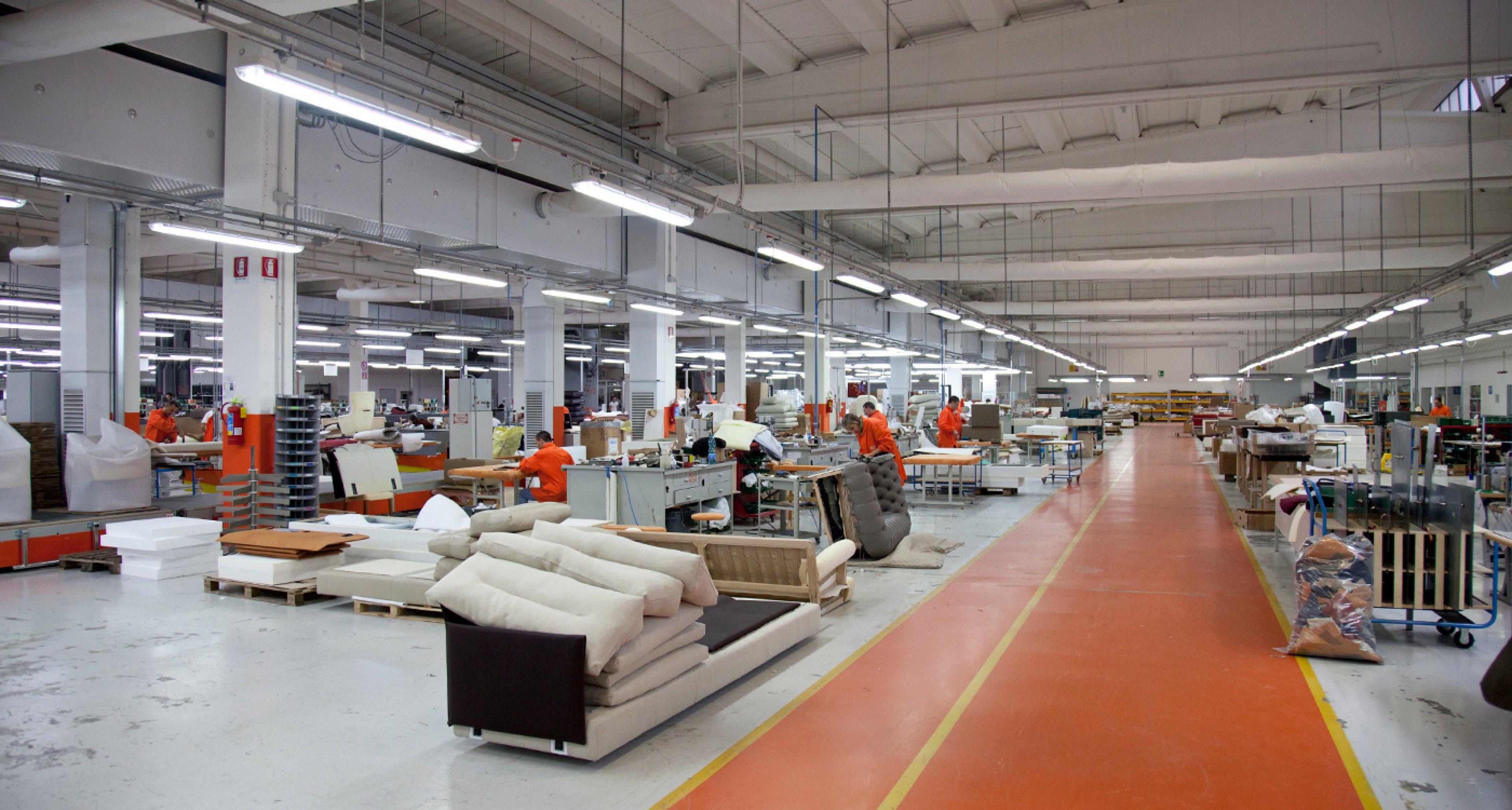 The Poltrona Frau factory in Tolentino.