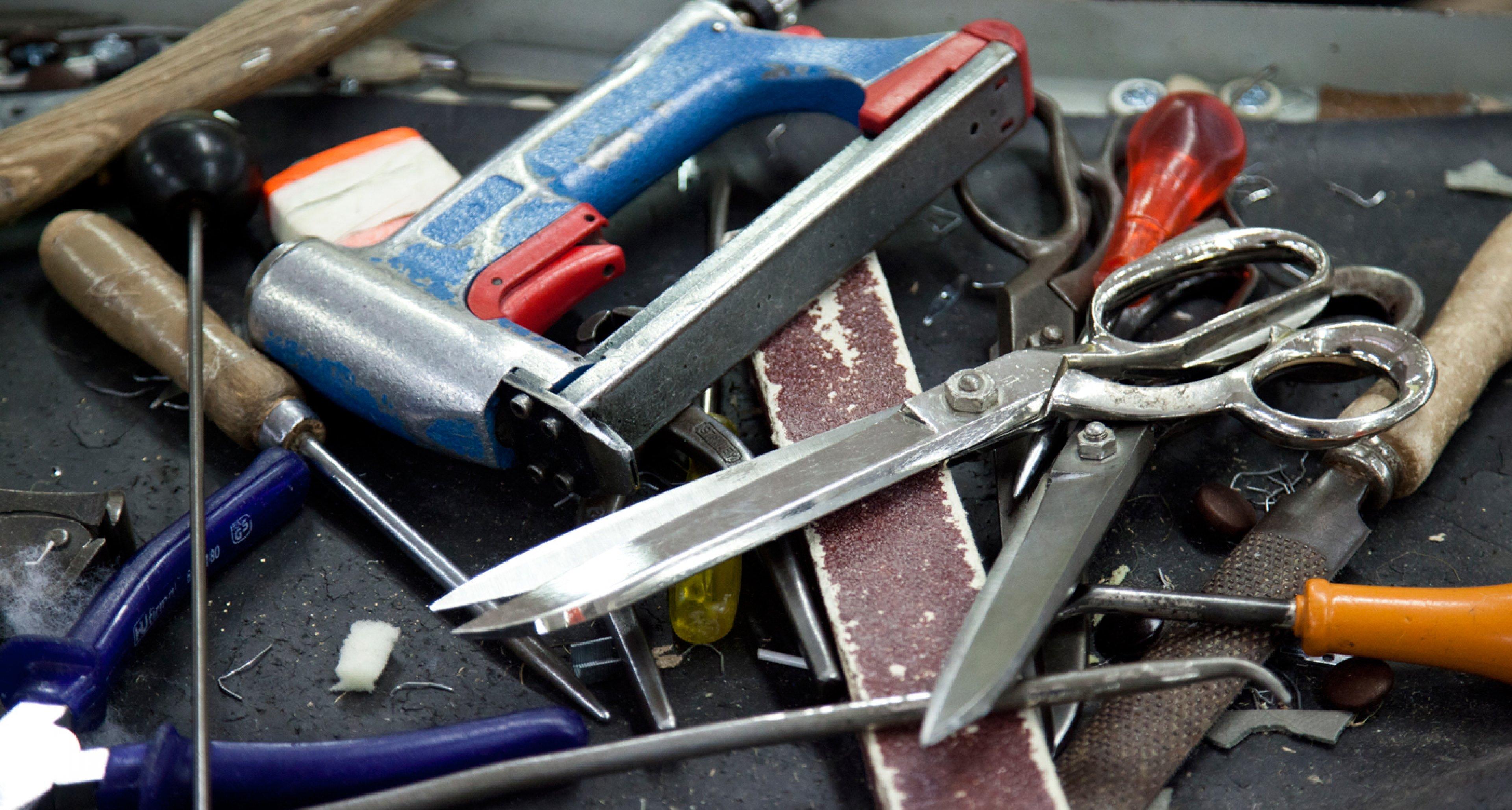 Tools at Poltrona Frau factory.