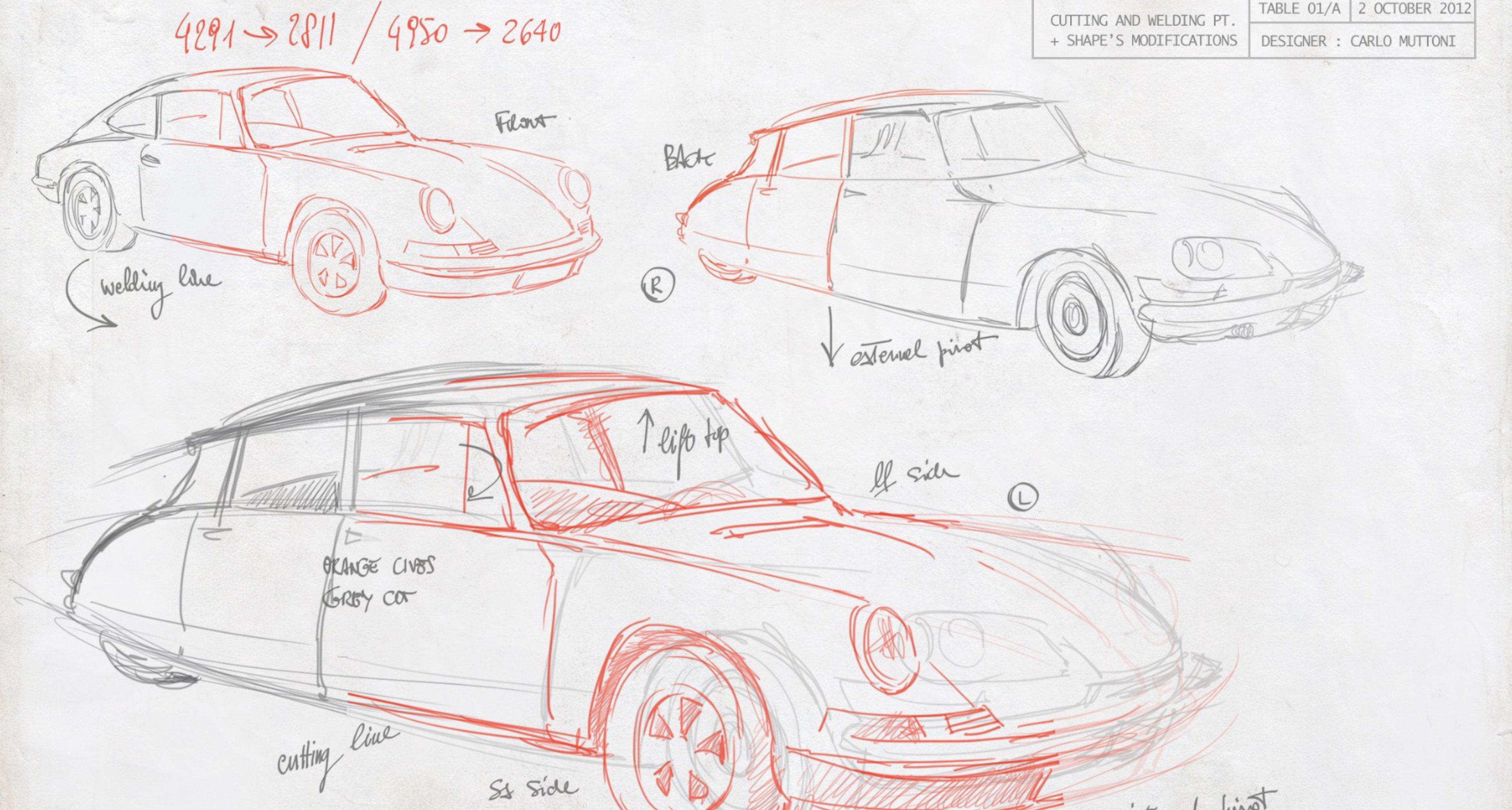 Designing the Porsche Citroën 911 DS.