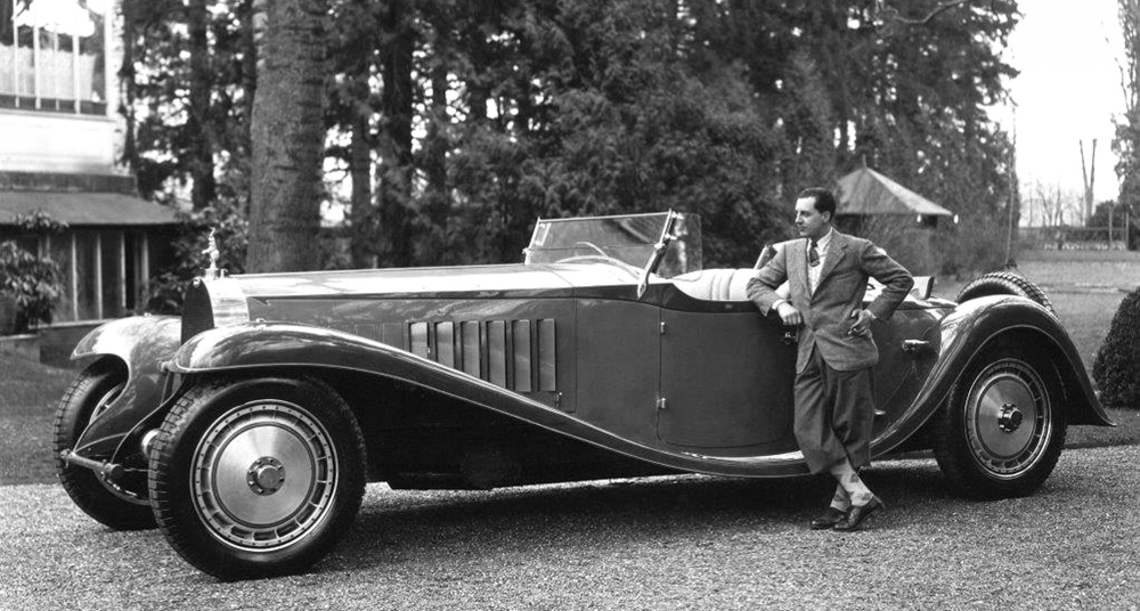Jean Bugatti and a T41. © Bugatti archives